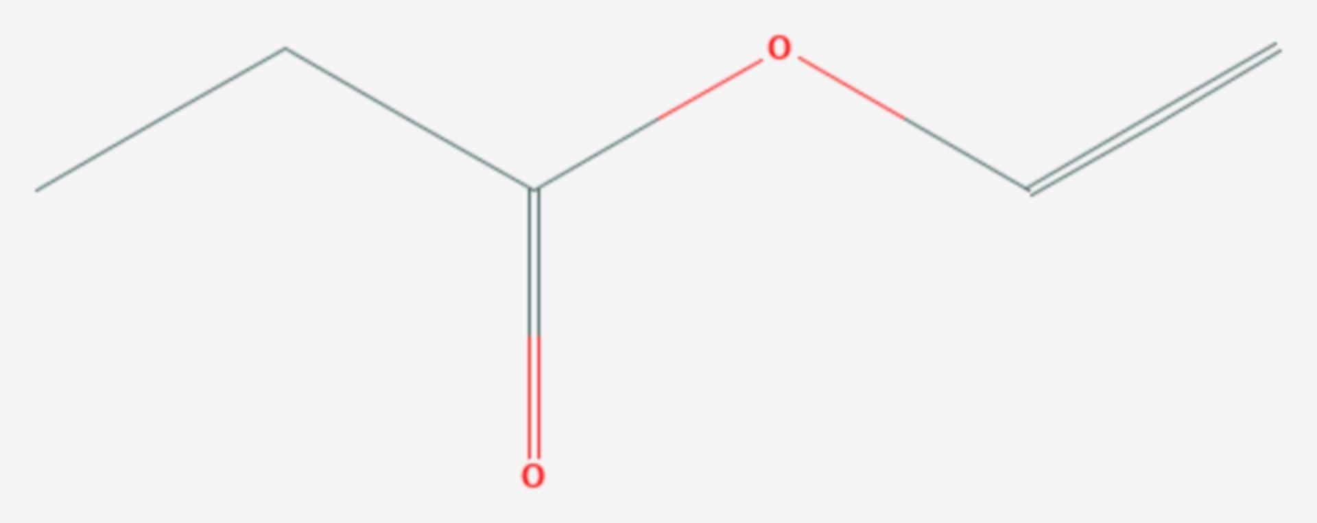 Propionsäurevinylester (Strukturformel)