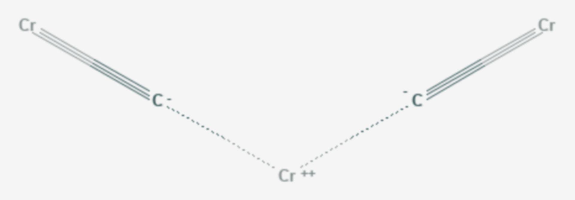 Chromcarbid (Strukturformel)