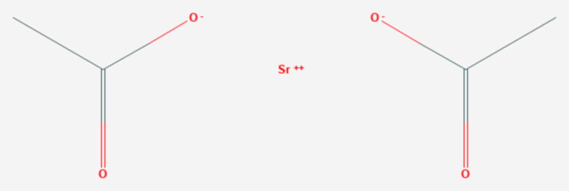 Strontiumacetat (Strukturformel)