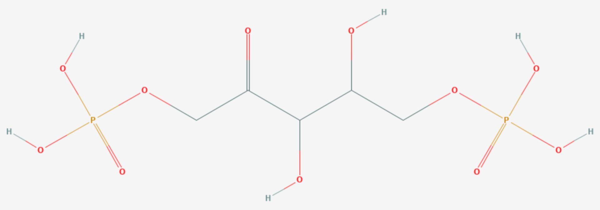 Ribulose-1,5-bisphosphat (Strukturformel)