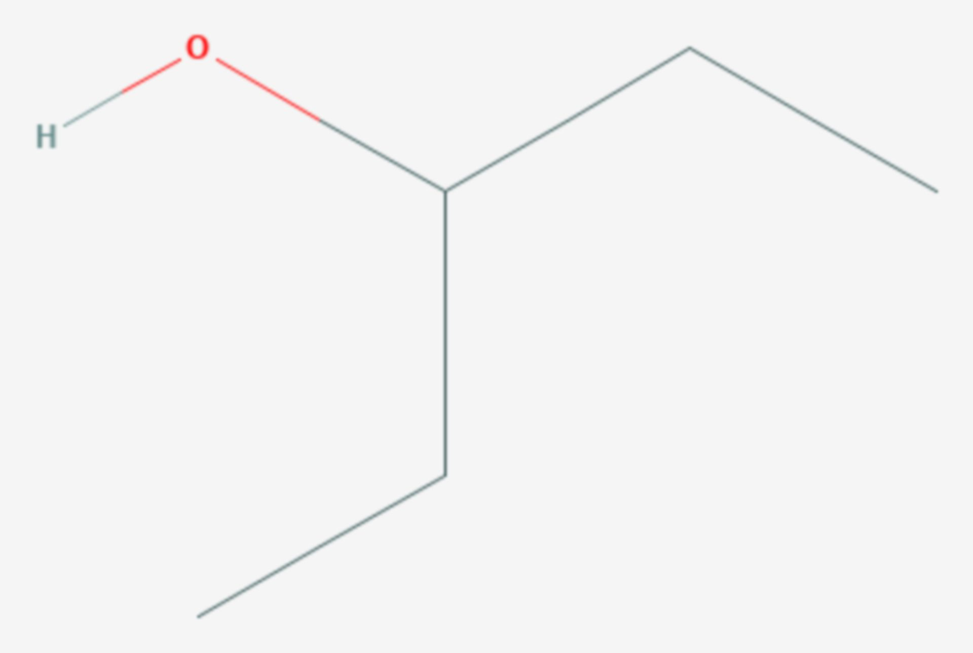 3-Pentanol (Strukturformel)
