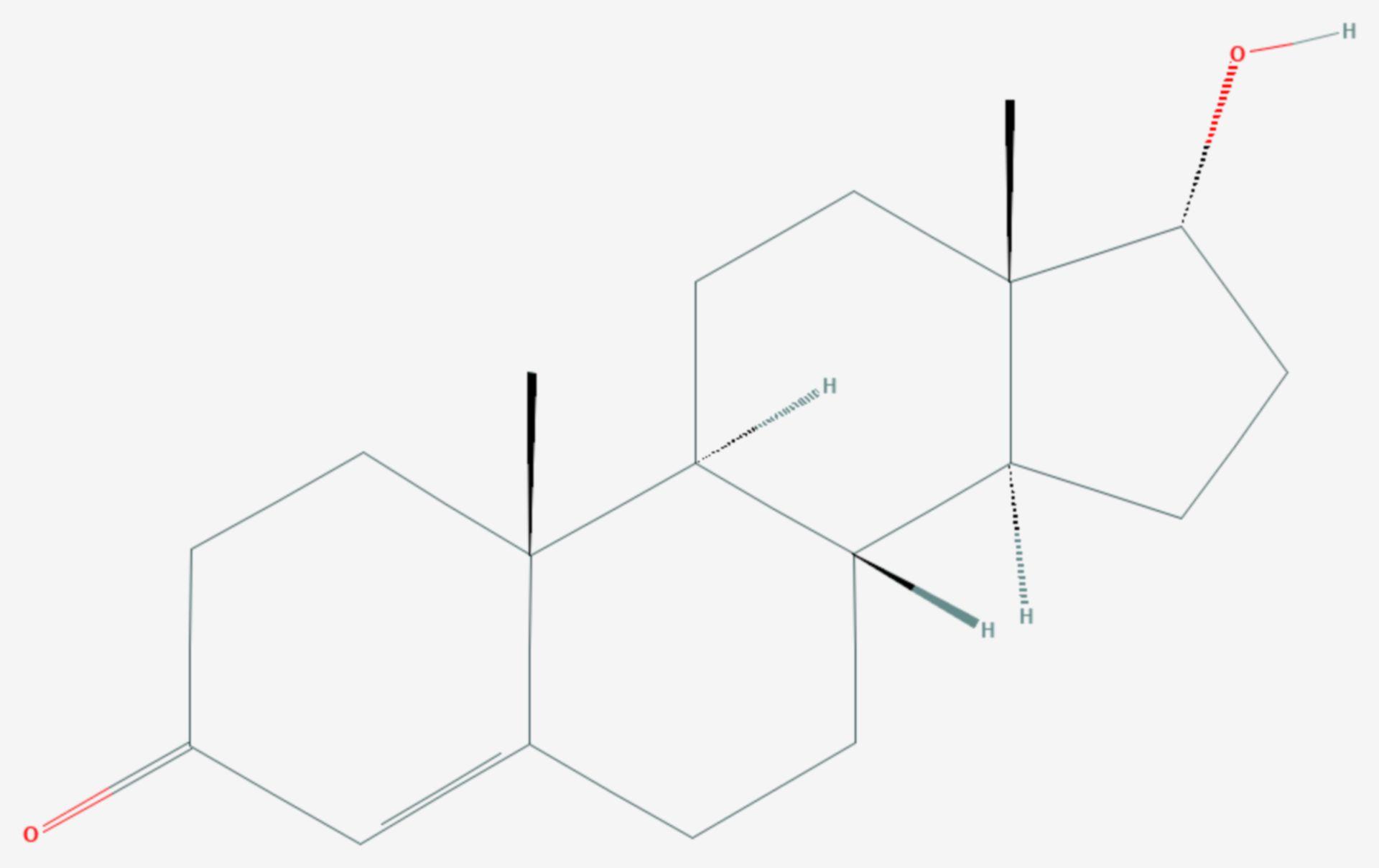 Epitestosteron (Strukturformel)