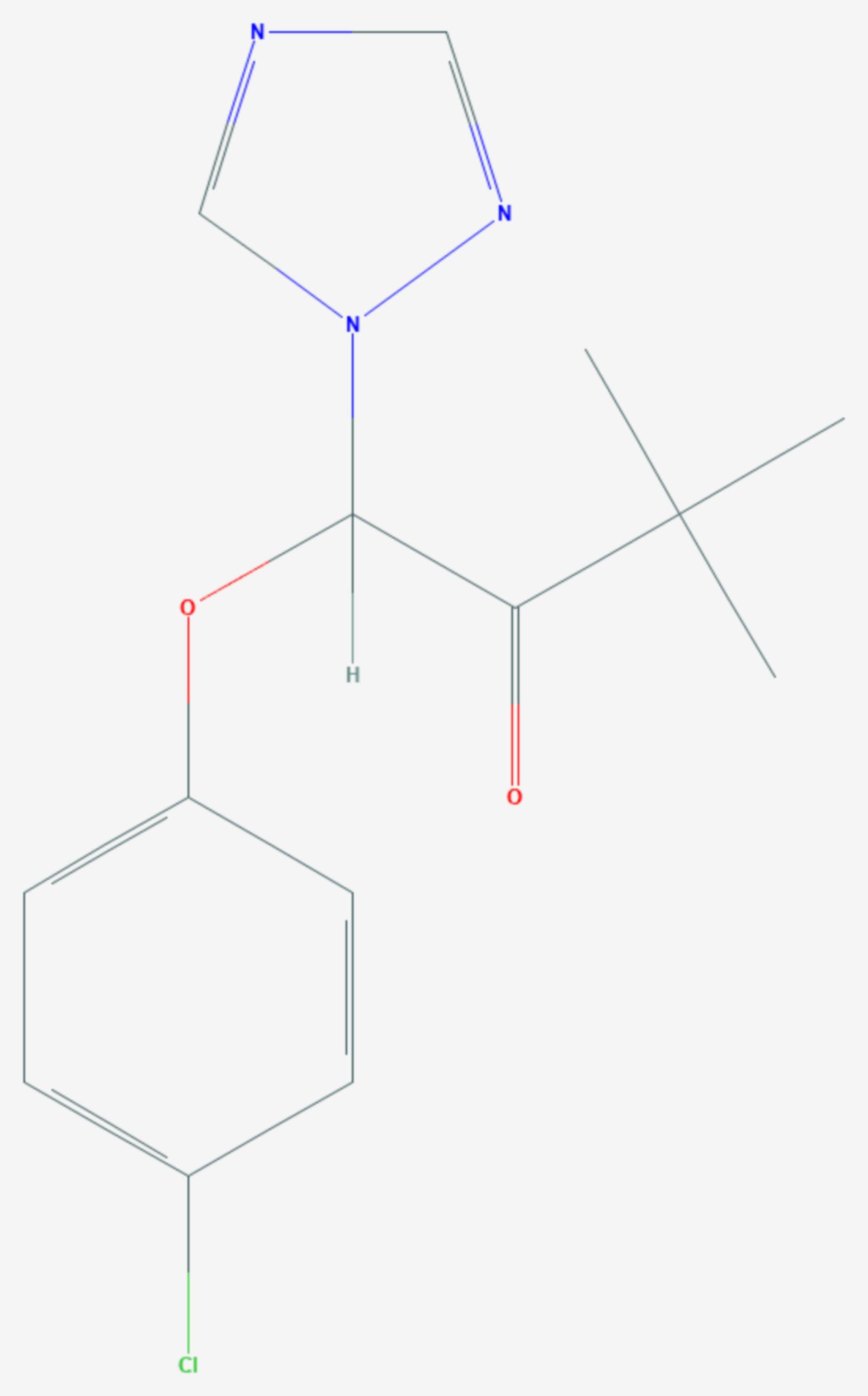 Triadimefon (Strukturformel)