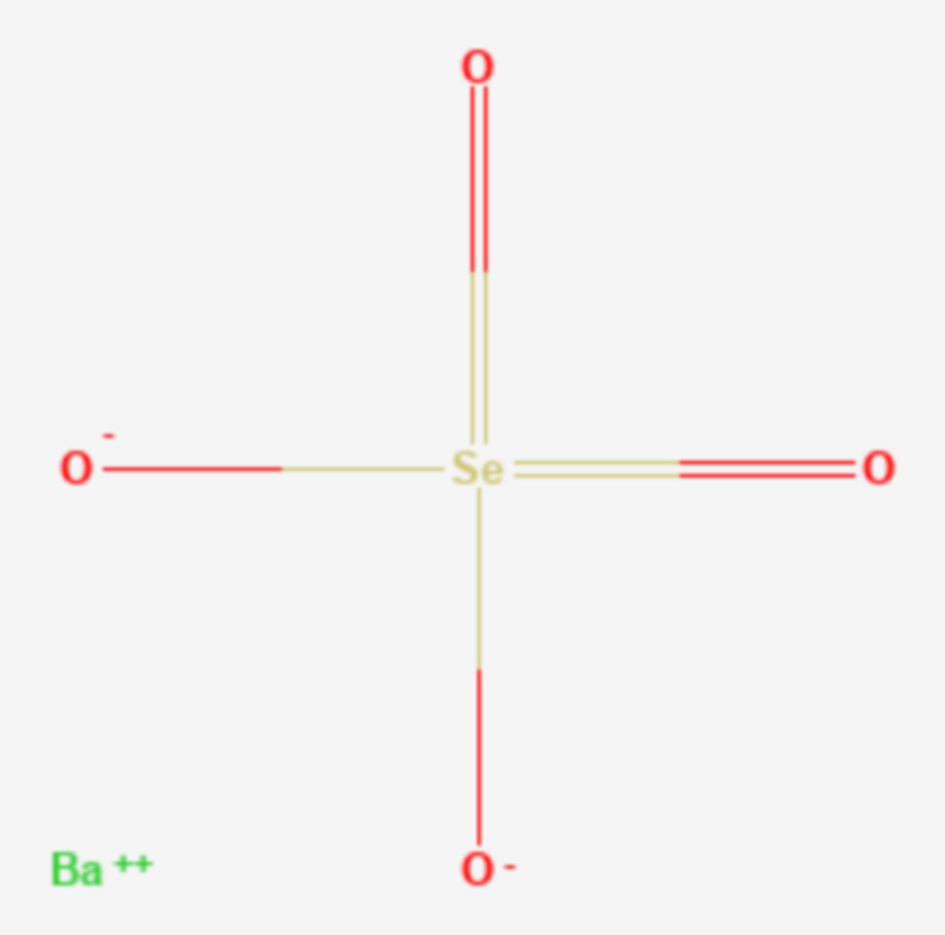 Bariumselenat (Strukturformel)