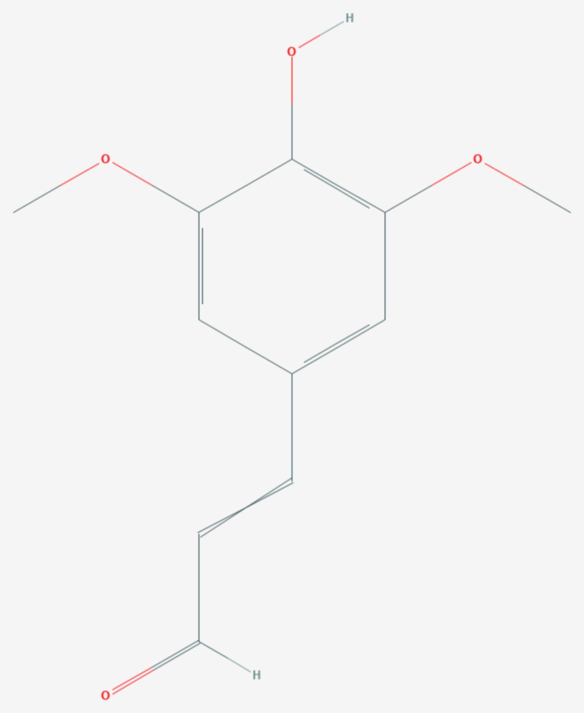 Sinapinaldehyd (Strukturformel)