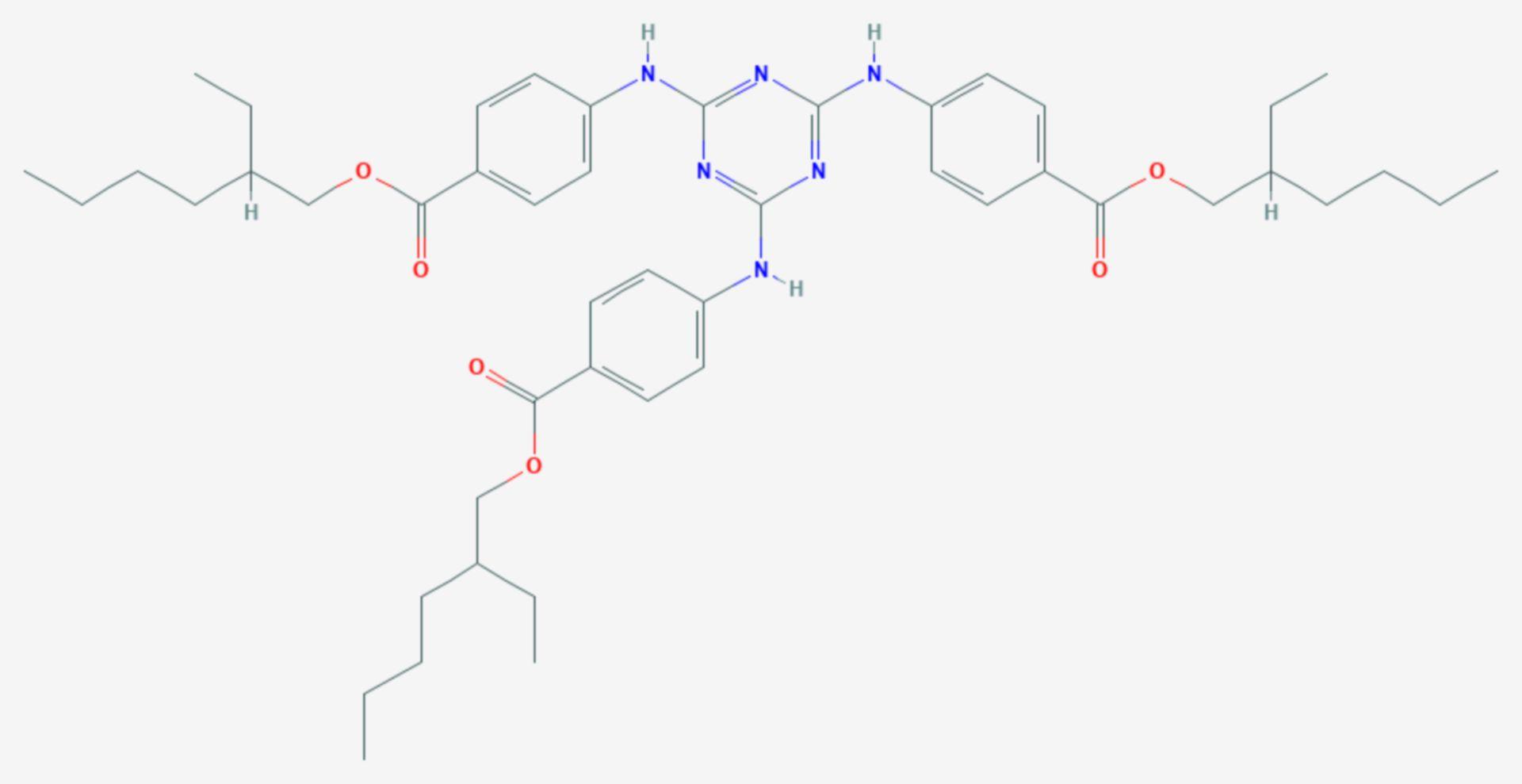 Octyltriazon (Strukturformel)