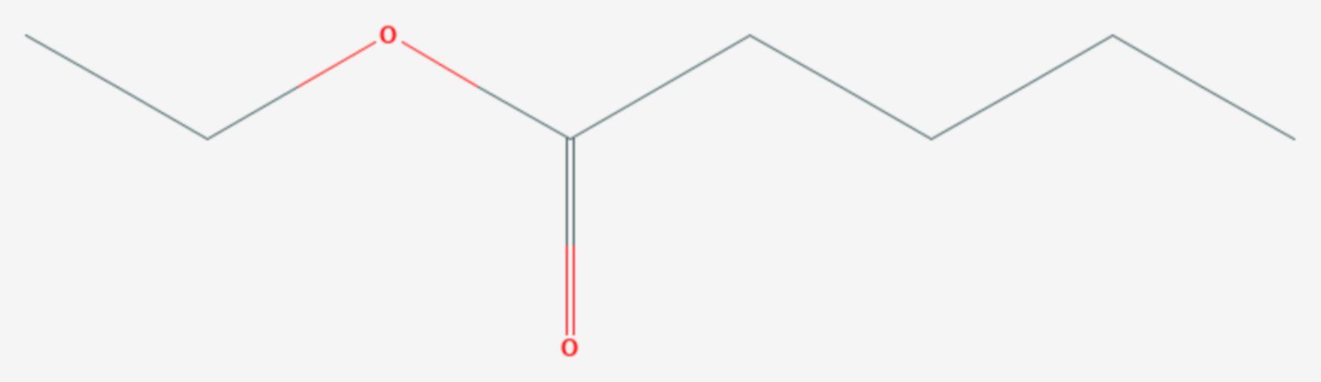 Valeriansäureethylester (Strukturformel)