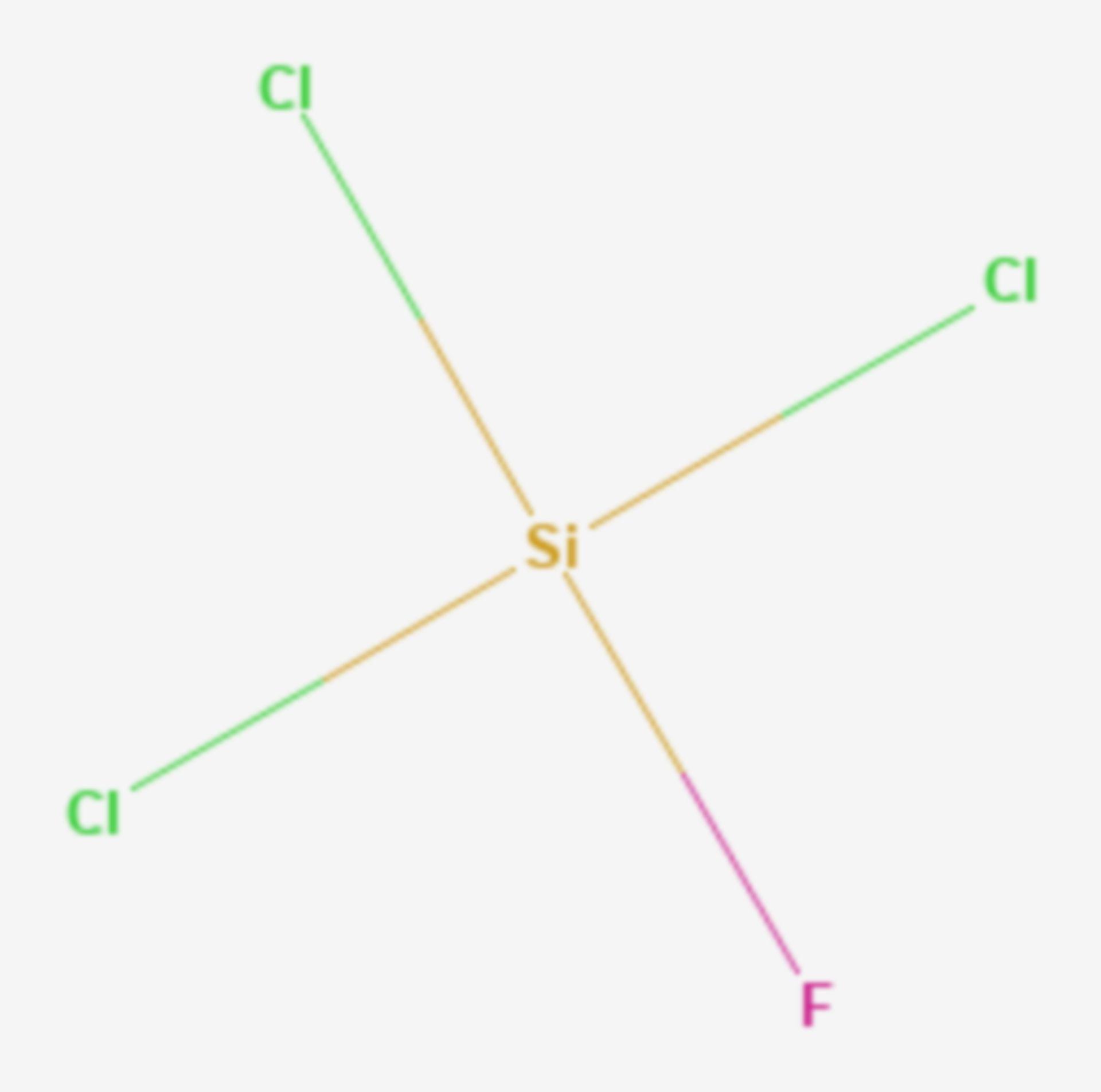Trichlorfluorsilan (Strukturformel)