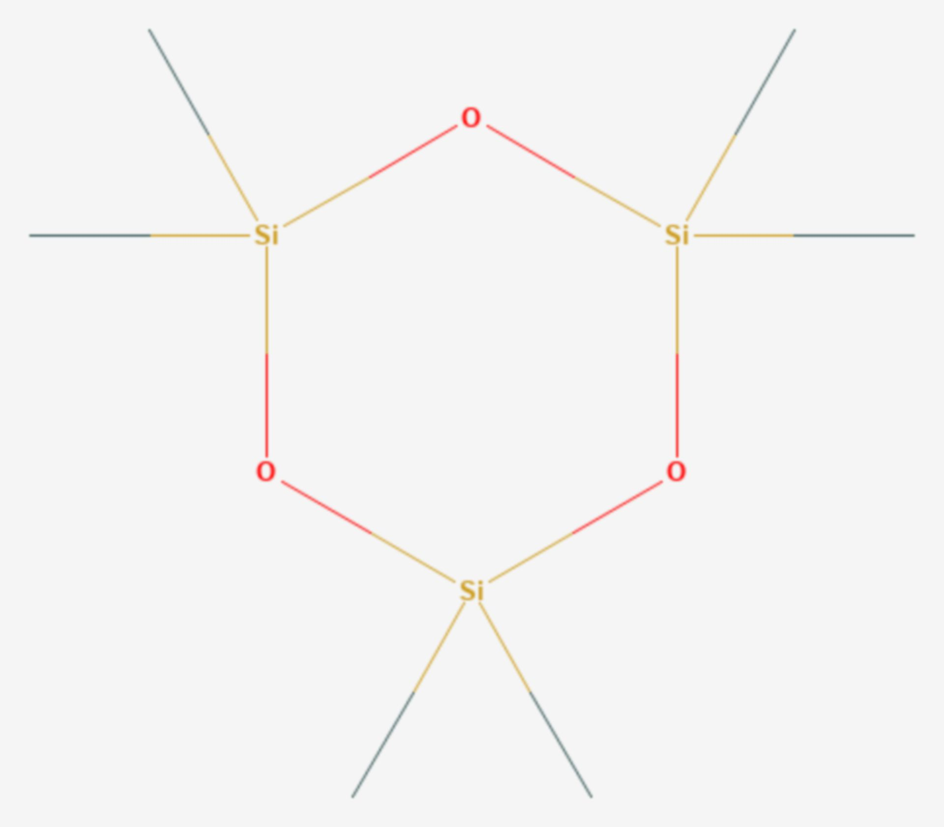 Hexamethylcyclotrisiloxan (Strukturformel)