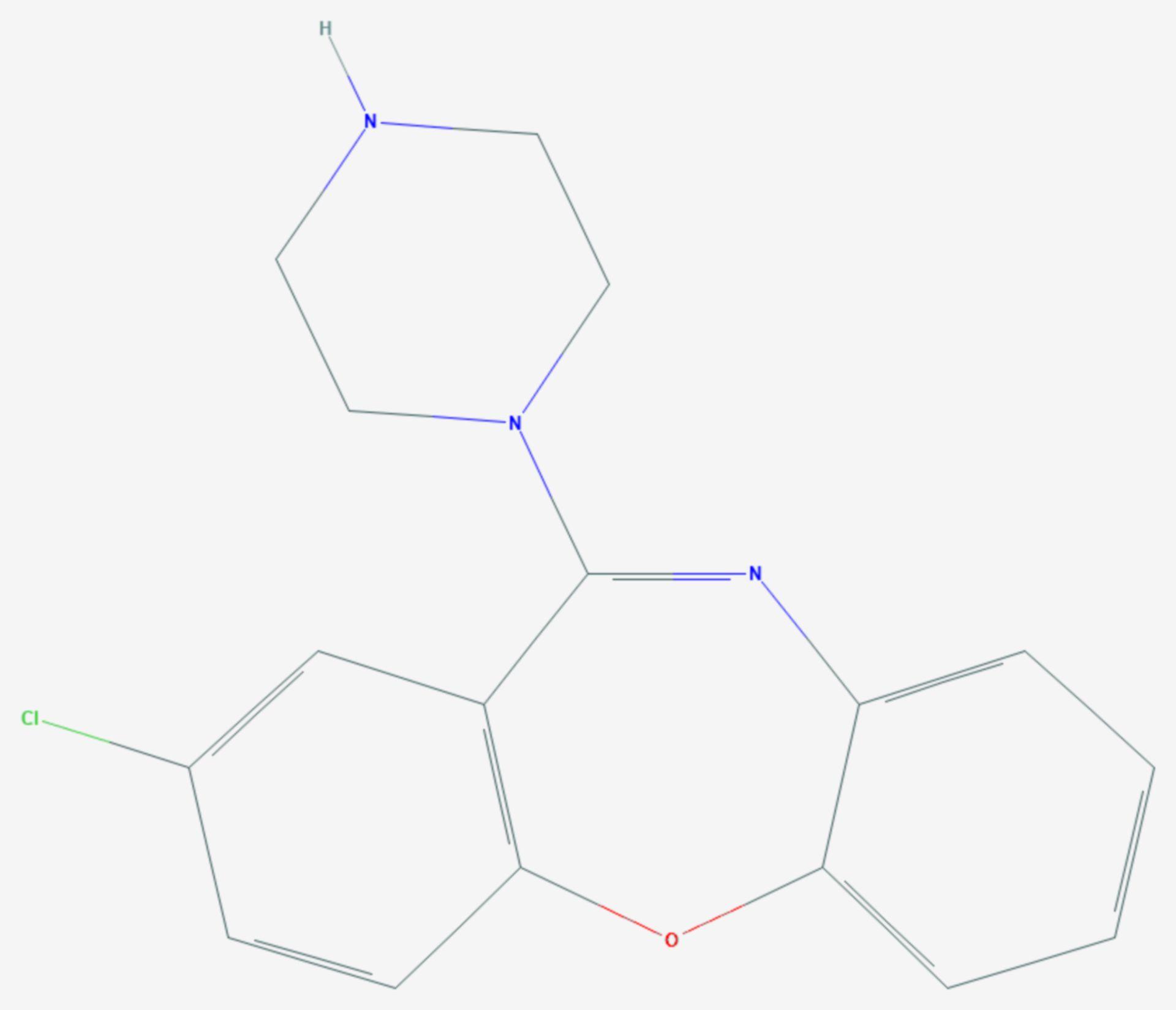 Amoxapin (Strukturformel)