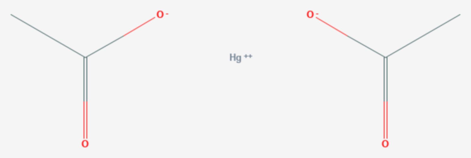Quecksilber(II)-acetat (Strukturformel)