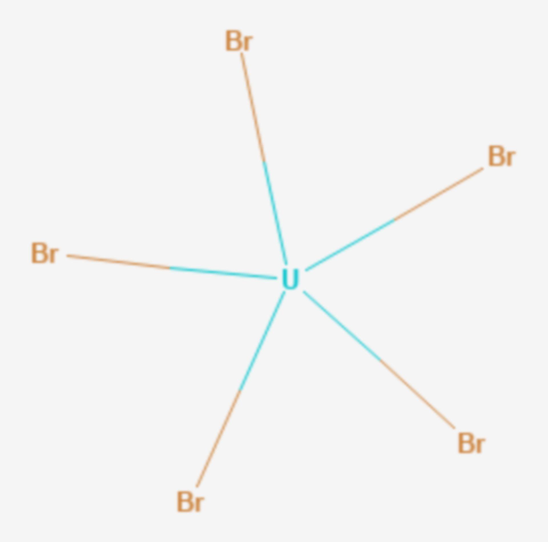 Uran(V)-bromid (Strukturformel)