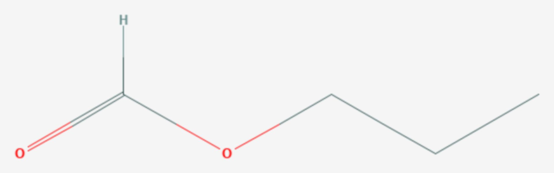 Ameisensäurepropylester (Strukturformel)