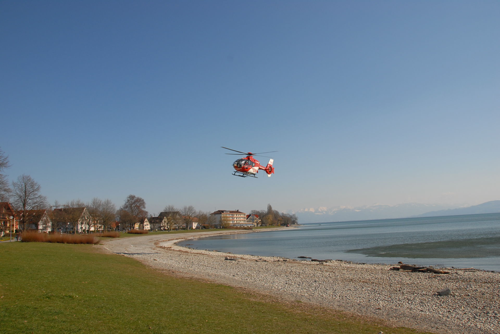 Rescue Helicopter: Flying over Lake Constance