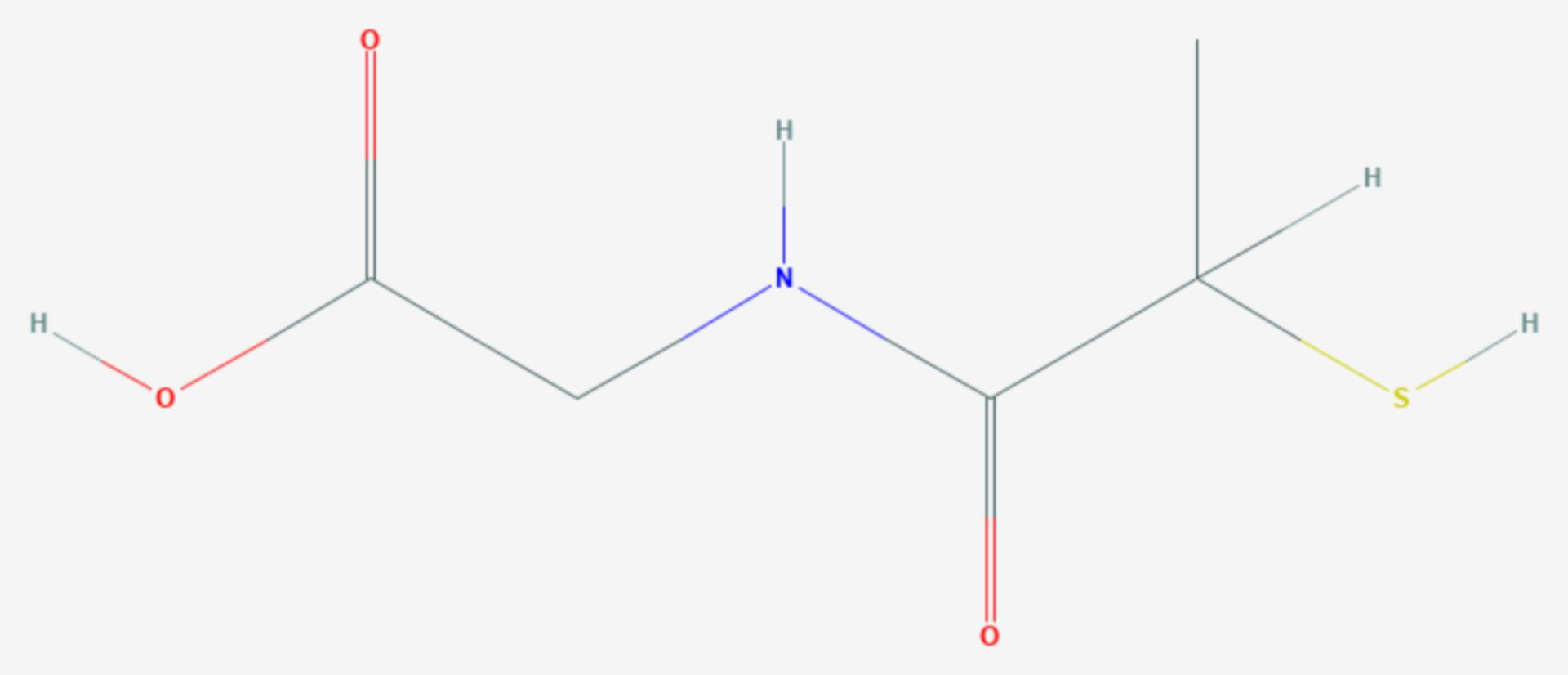 Tiopronin (Strukturformel)