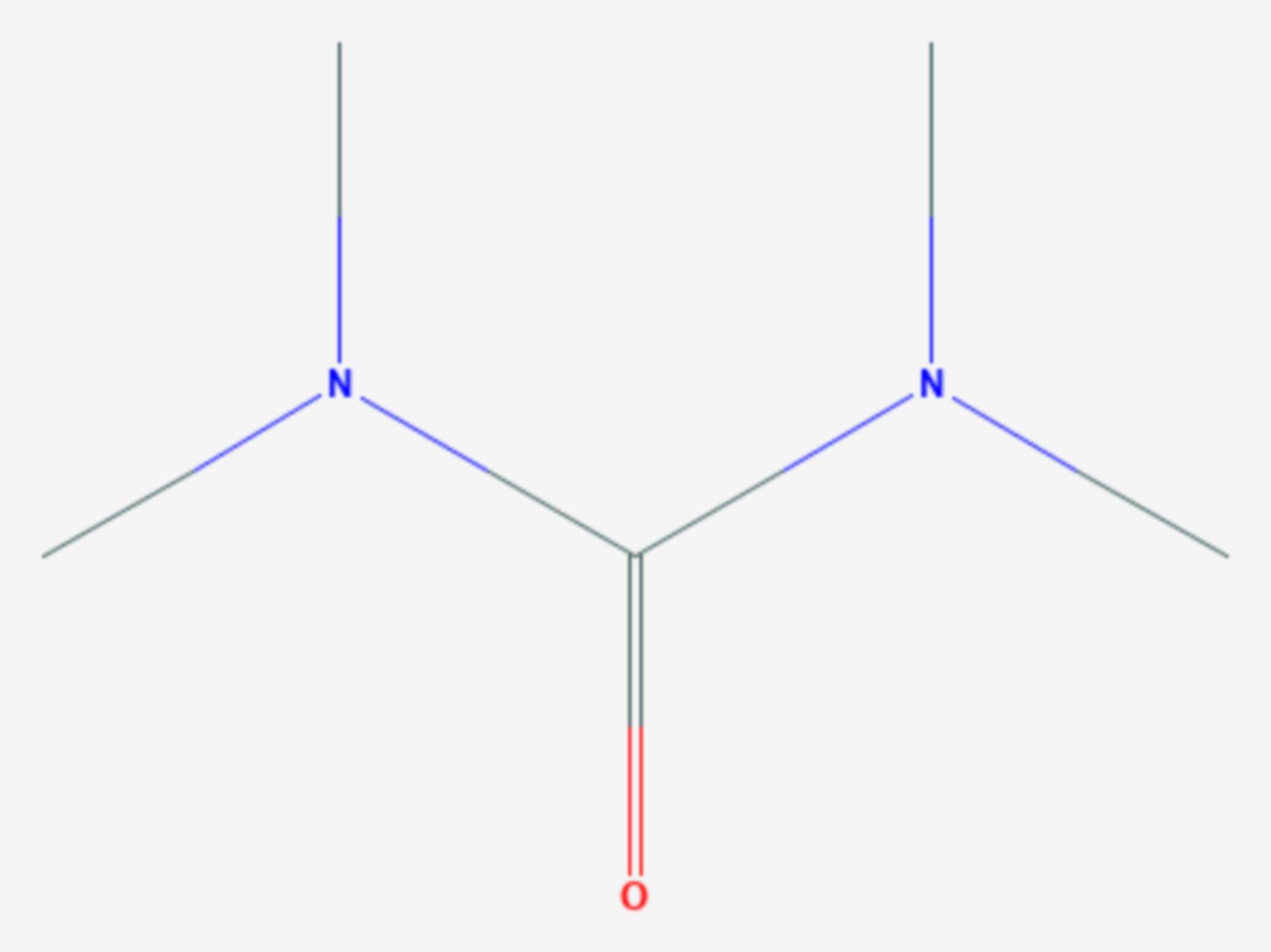 Tetramethylharnstoff (Strukturformel)