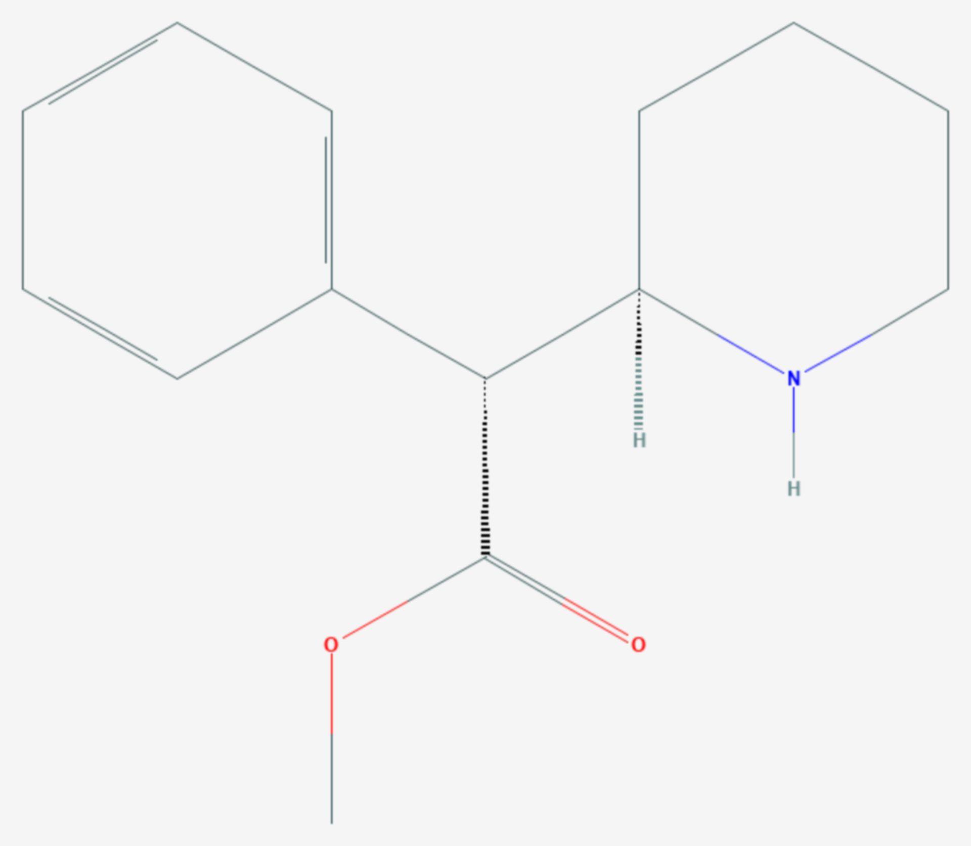 Dexmethylphenidat (Strukturformel)