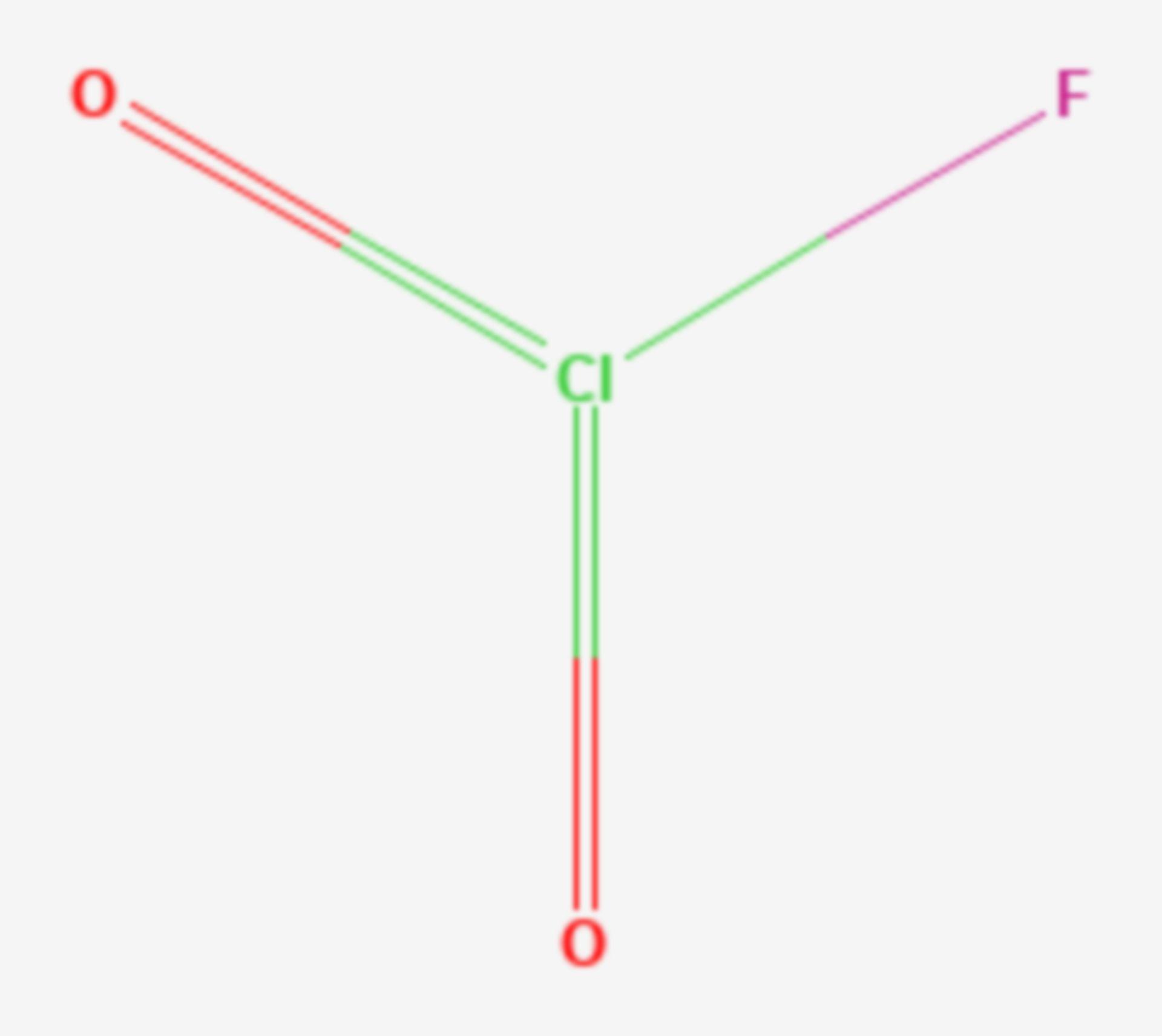 Chlorylfluorid (Strukturformel)