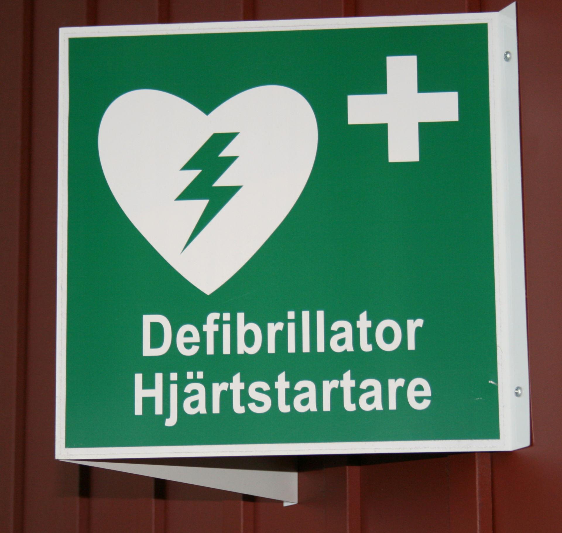 Internationales AED-Zeichen Stockholm