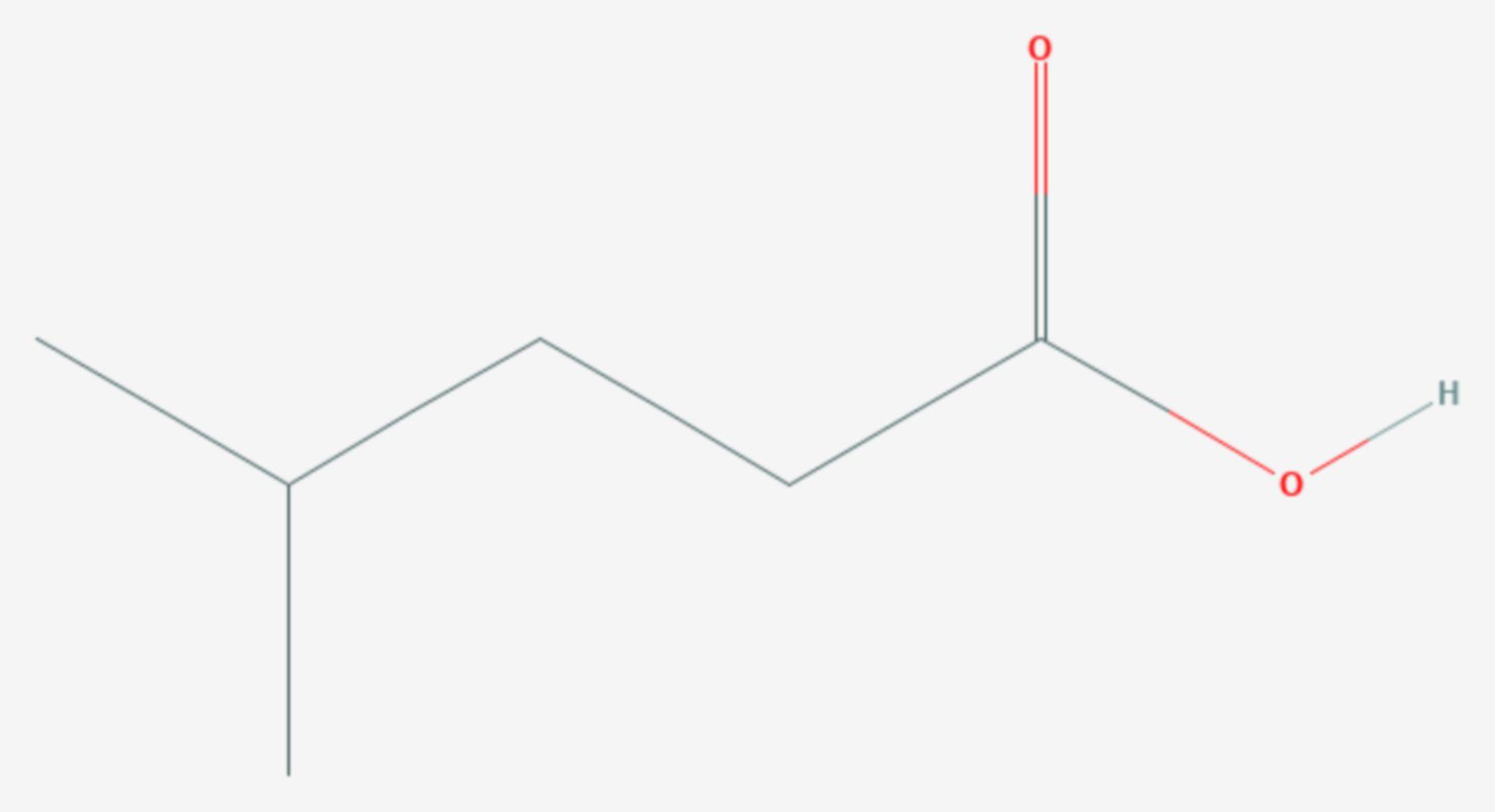 Isocapronsäure (Strukturformel)