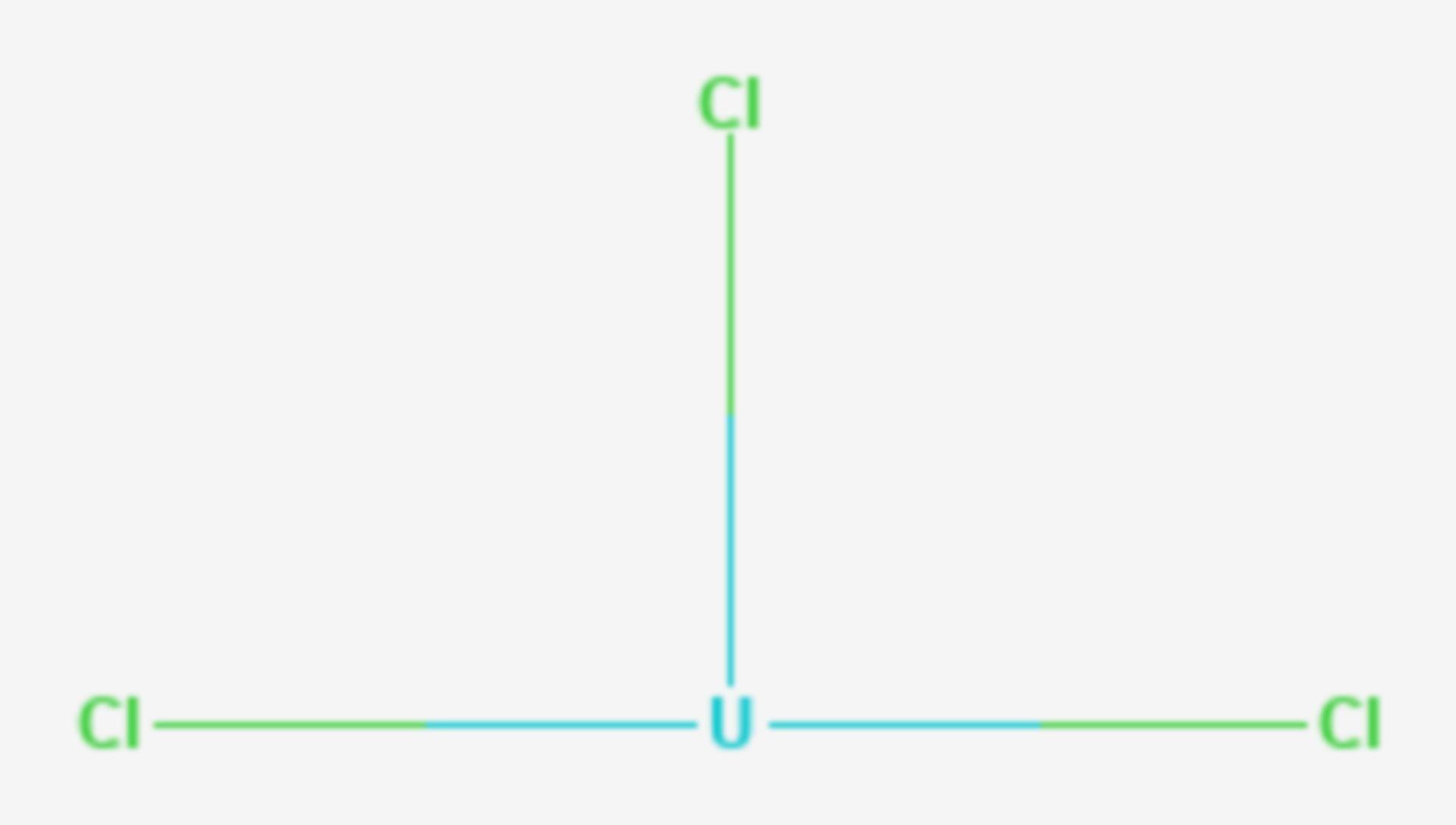Uran(III)-chlorid (Strukturformel)