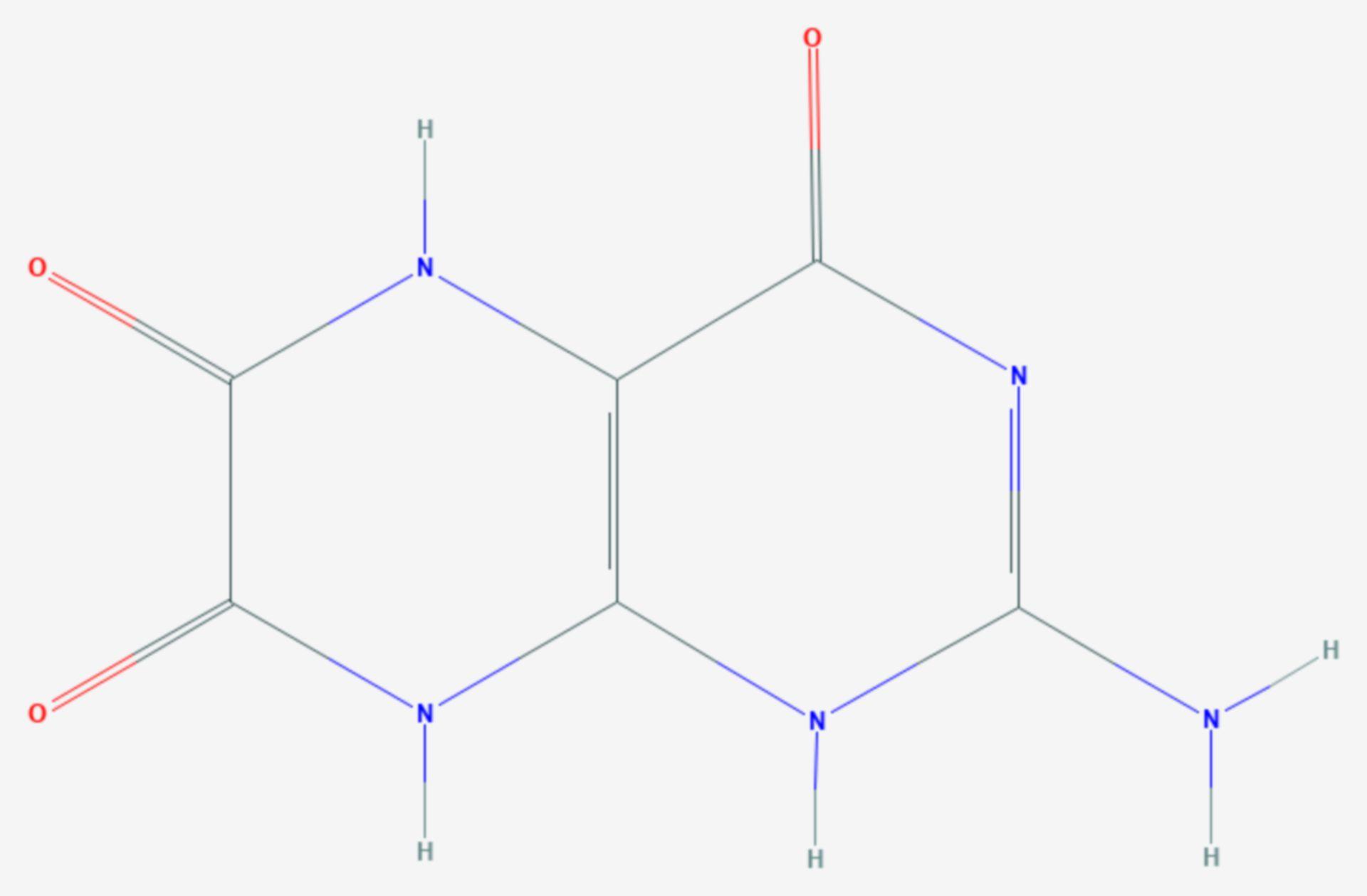 Leukopterin (Strukturformel)