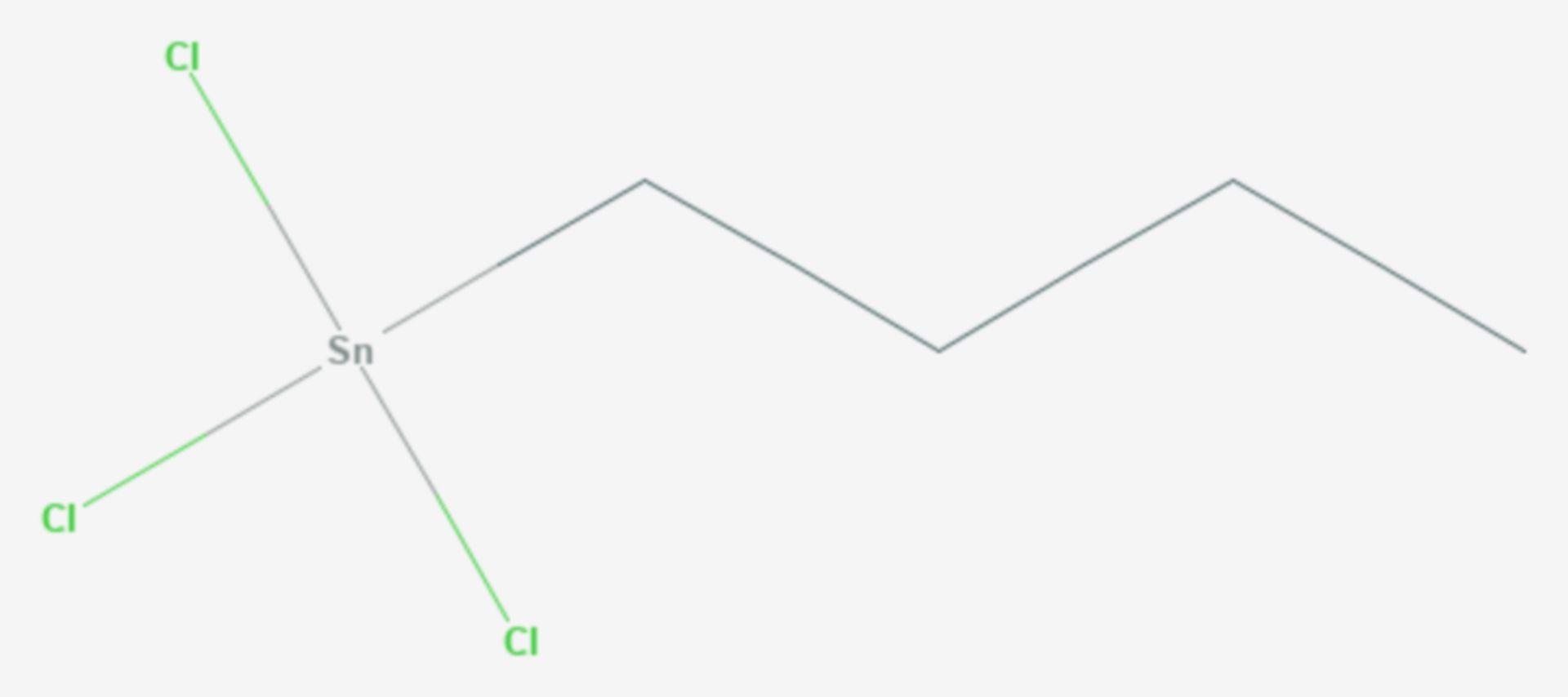 Butylzinntrichlorid (Strukturformel)