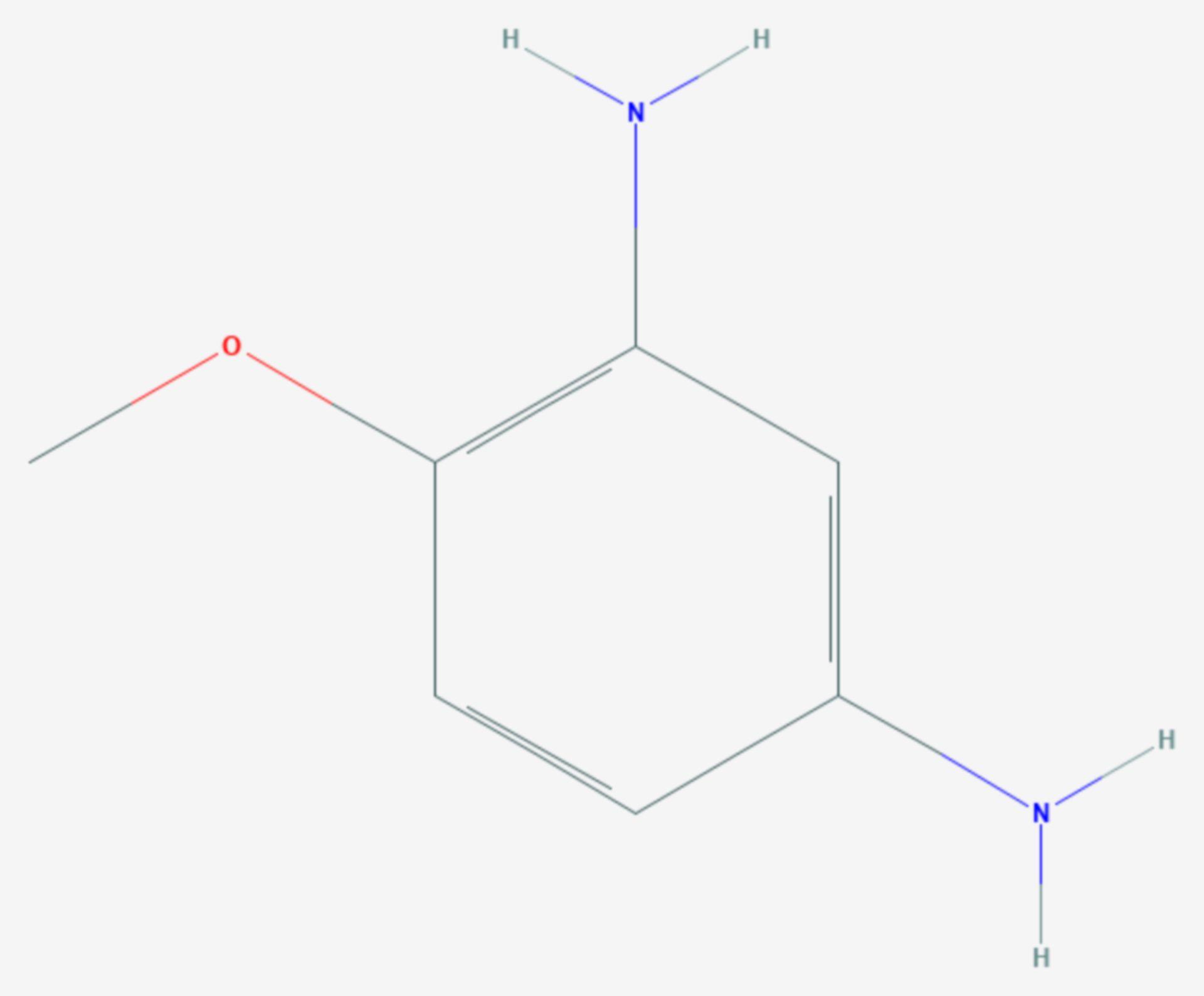 4-Methoxy-m-phenylendiamin (Strukturformel)