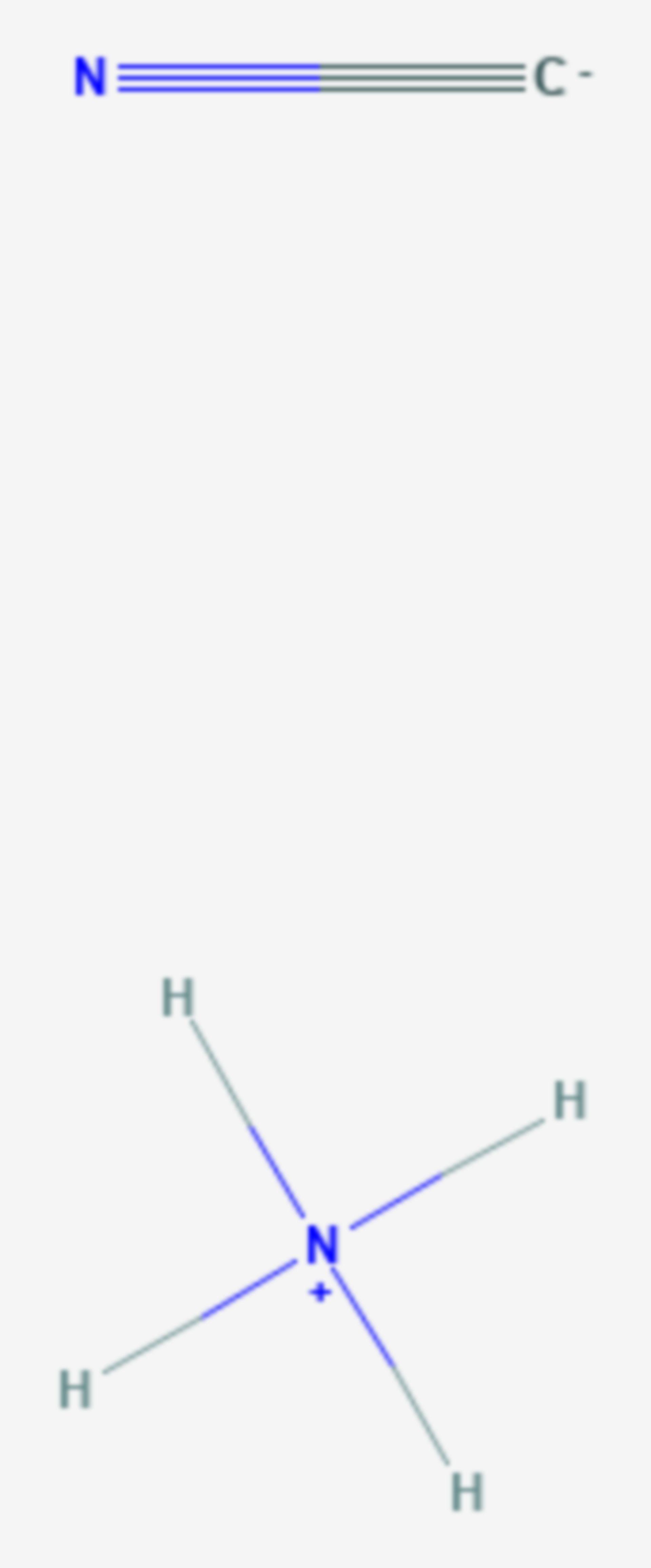 Ammoniumcyanid (Strukturformel)