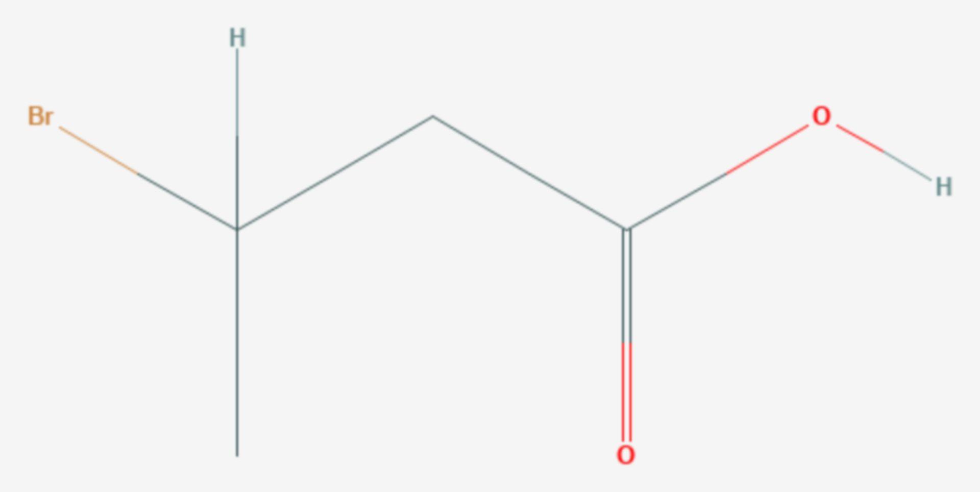 3-Brombutansäure (Strukturformel)
