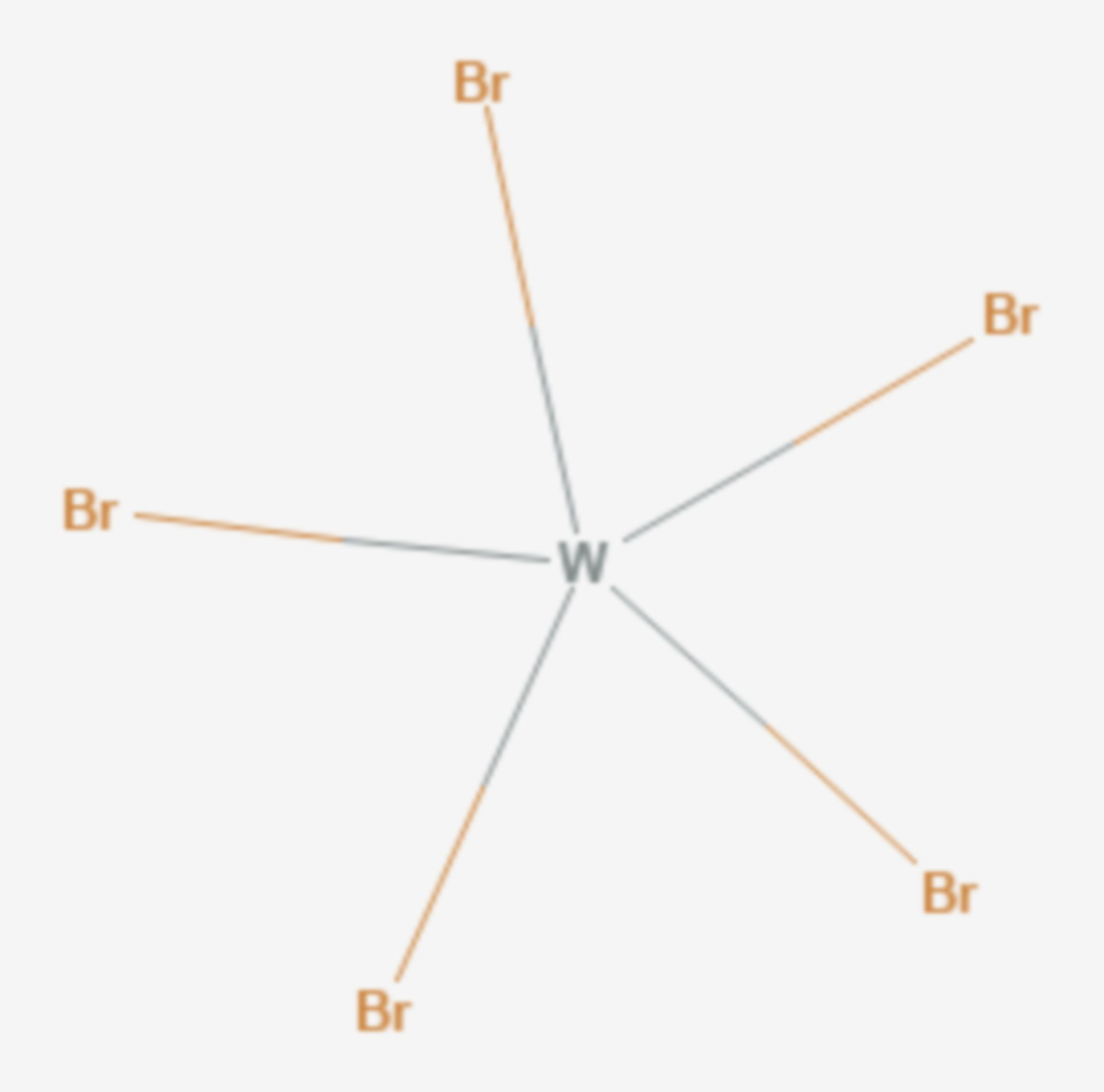 Wolfram(V)-bromid (Strukturformel)