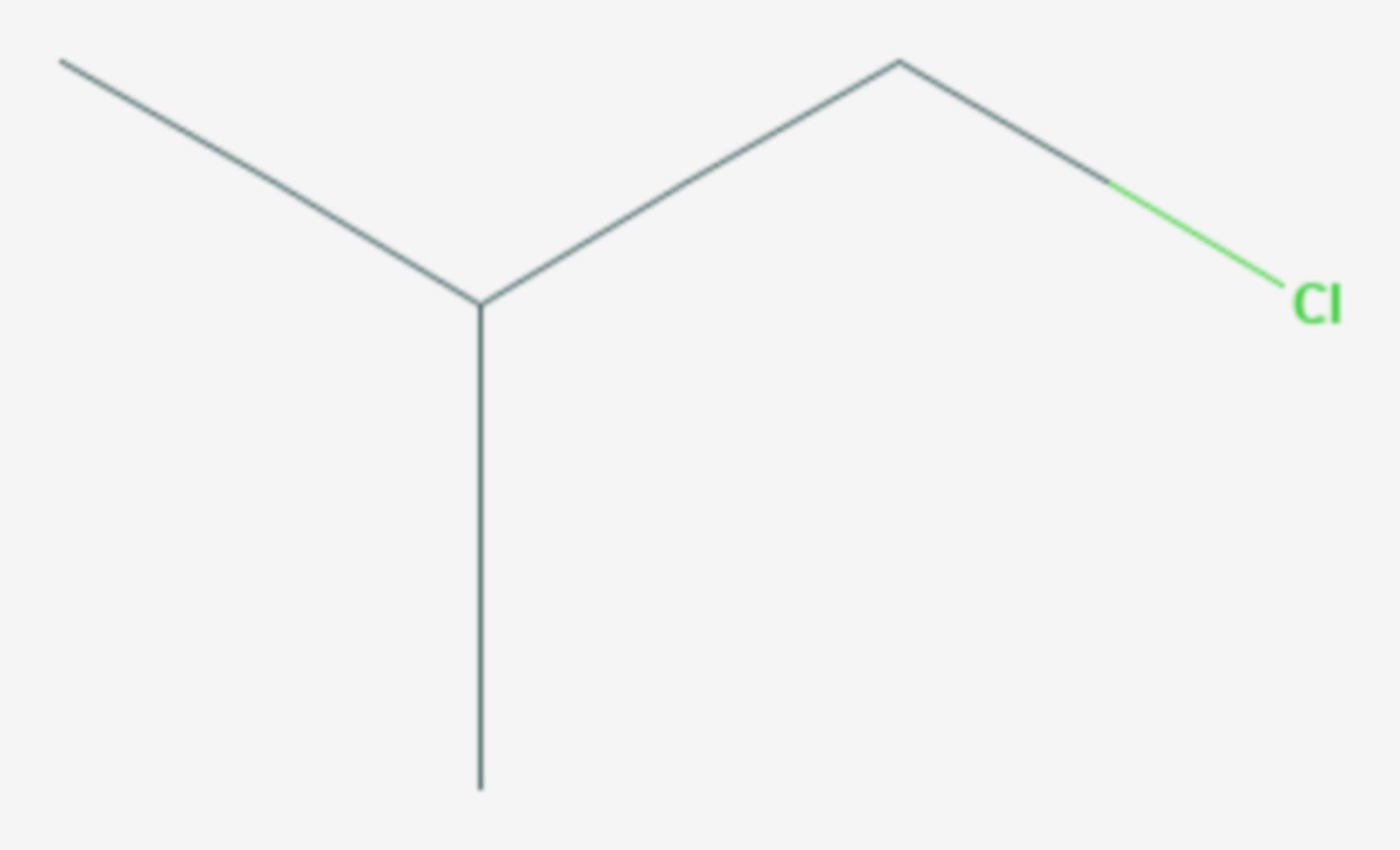 1-Chlor-2-methylpropan (Strukturformel)