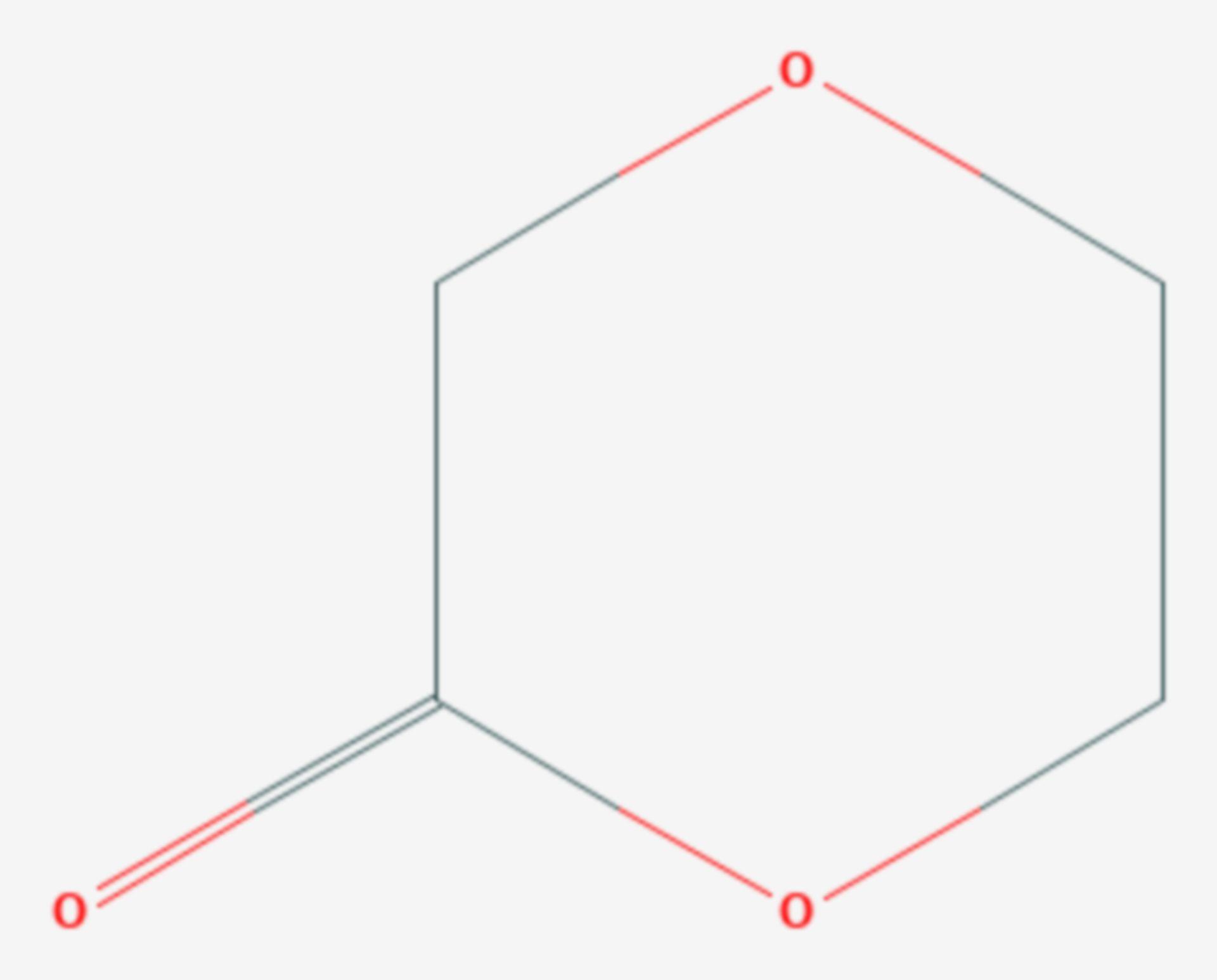 1,4-Dioxan-2-on (Strukturformel)