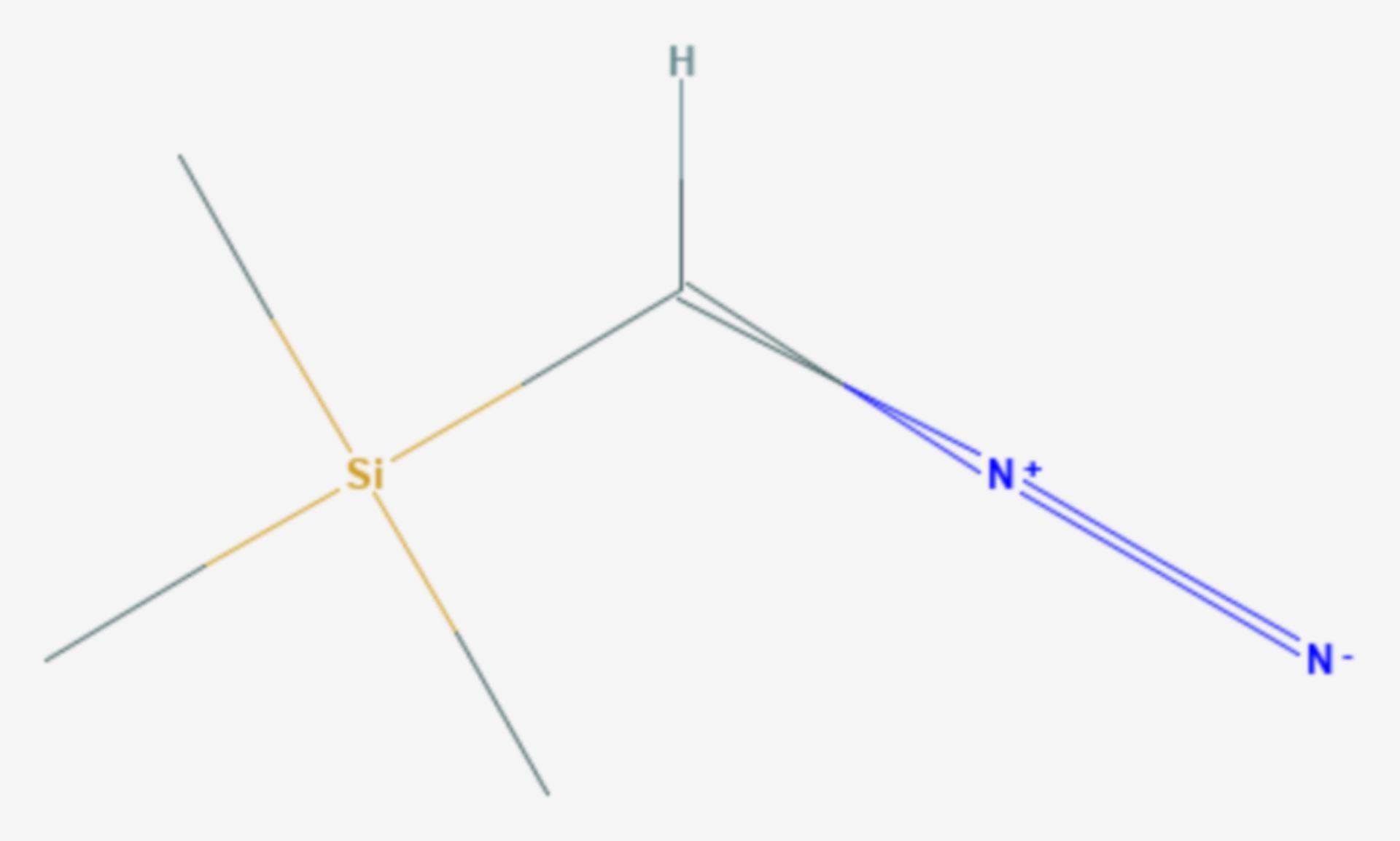 Trimethylsilyldiazomethan (Strukturformel)