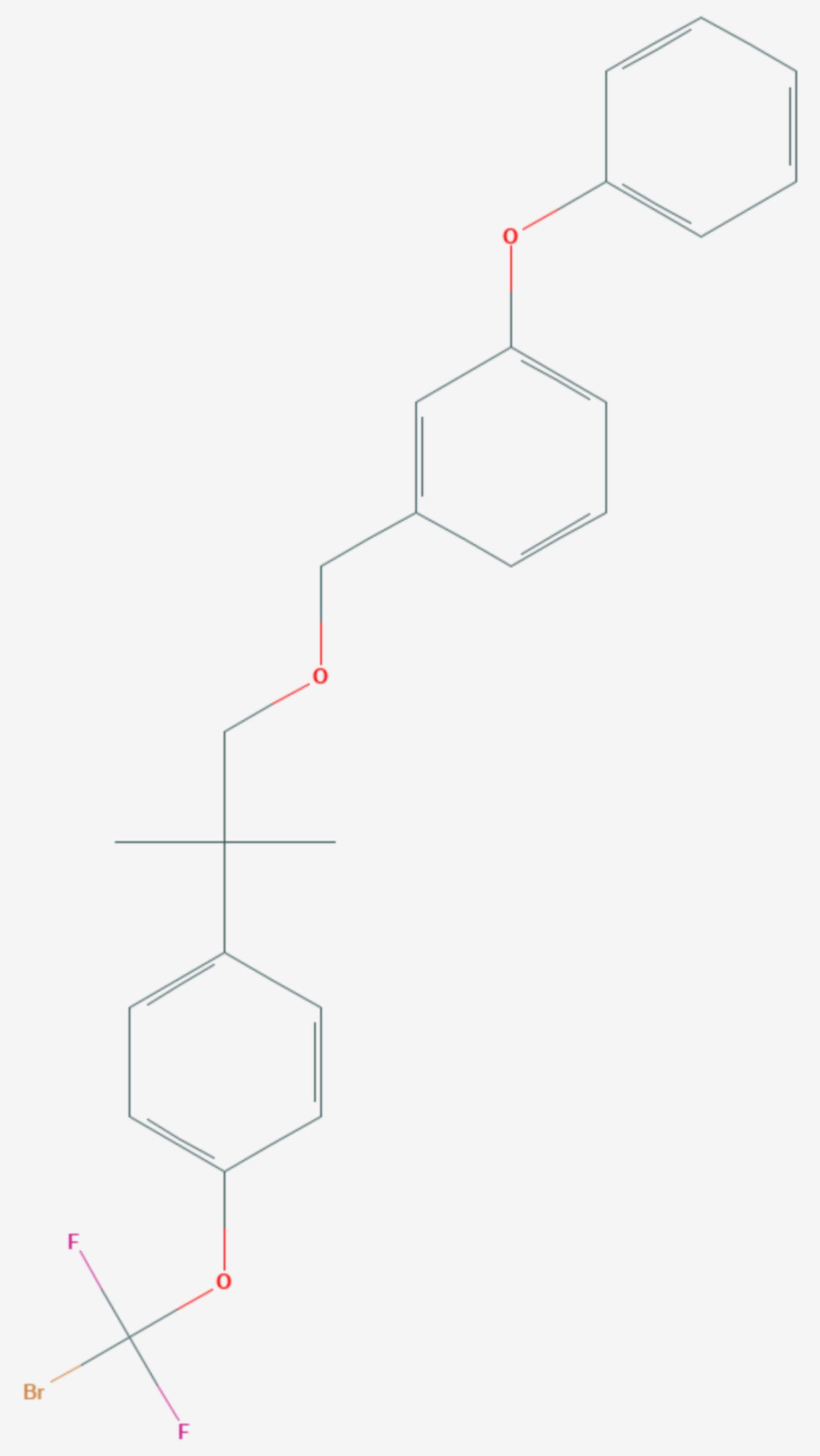 Halfenprox (Strukturformel)