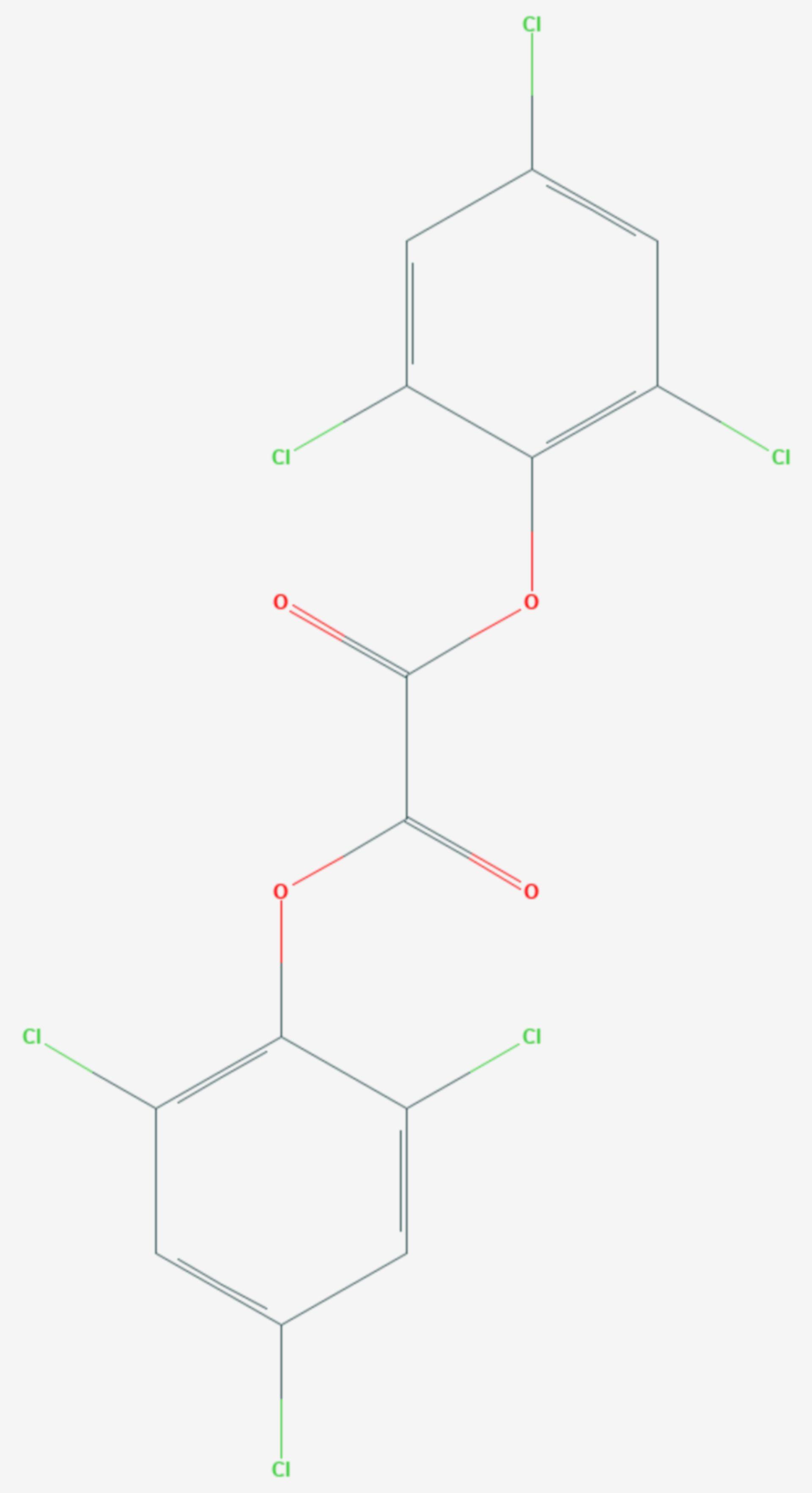 Oxalsäure-bis(2,4,6-trichlorphenylester) (Strukturformel)