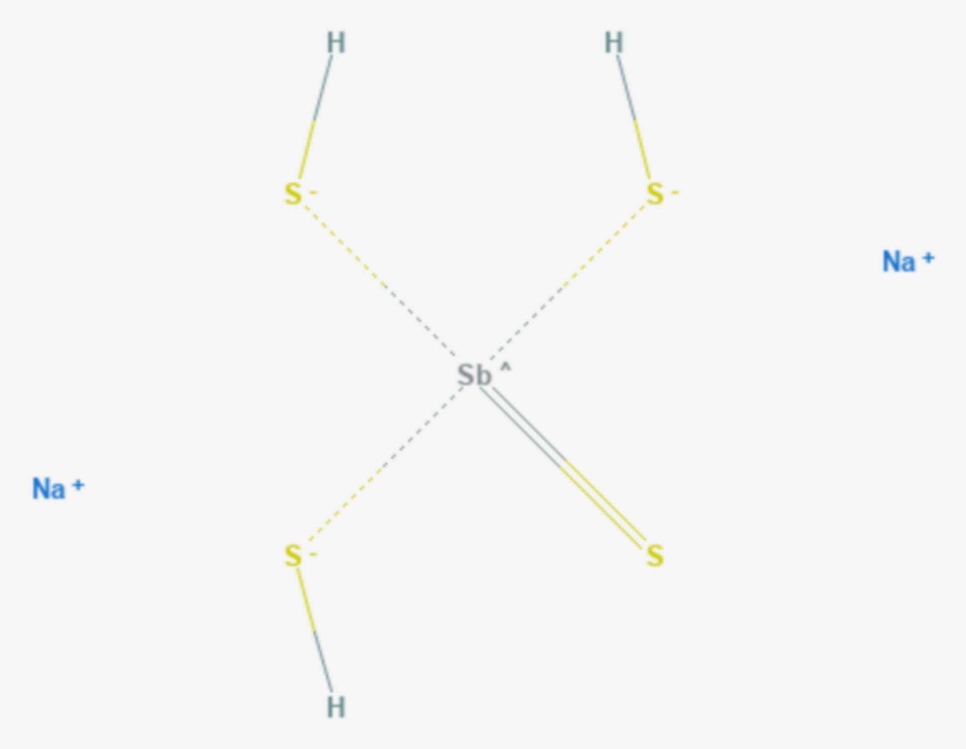 Natriumthioantimonat(V) (Strukturformel)