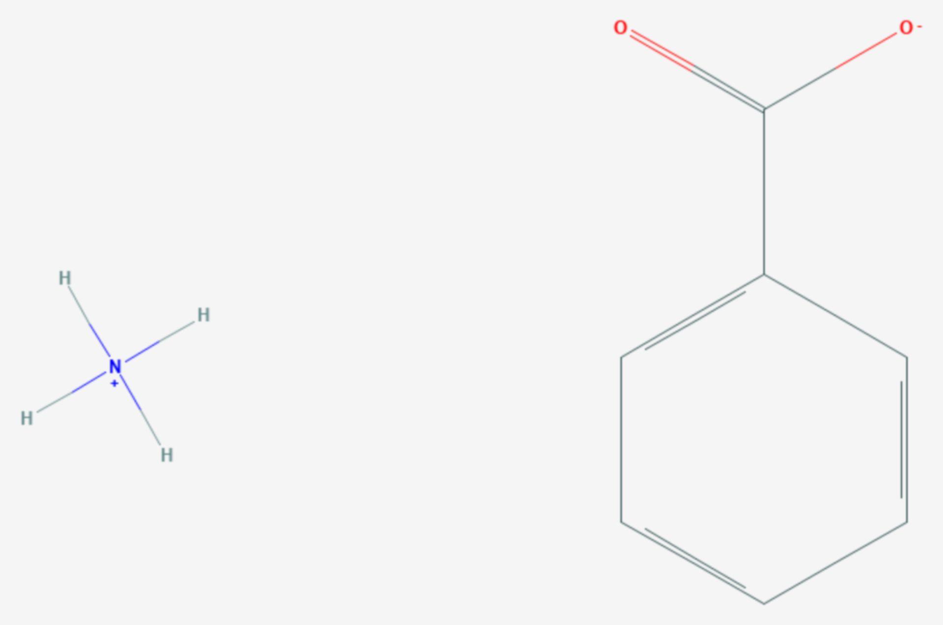 Ammoniumbenzoat (Strukturformel)