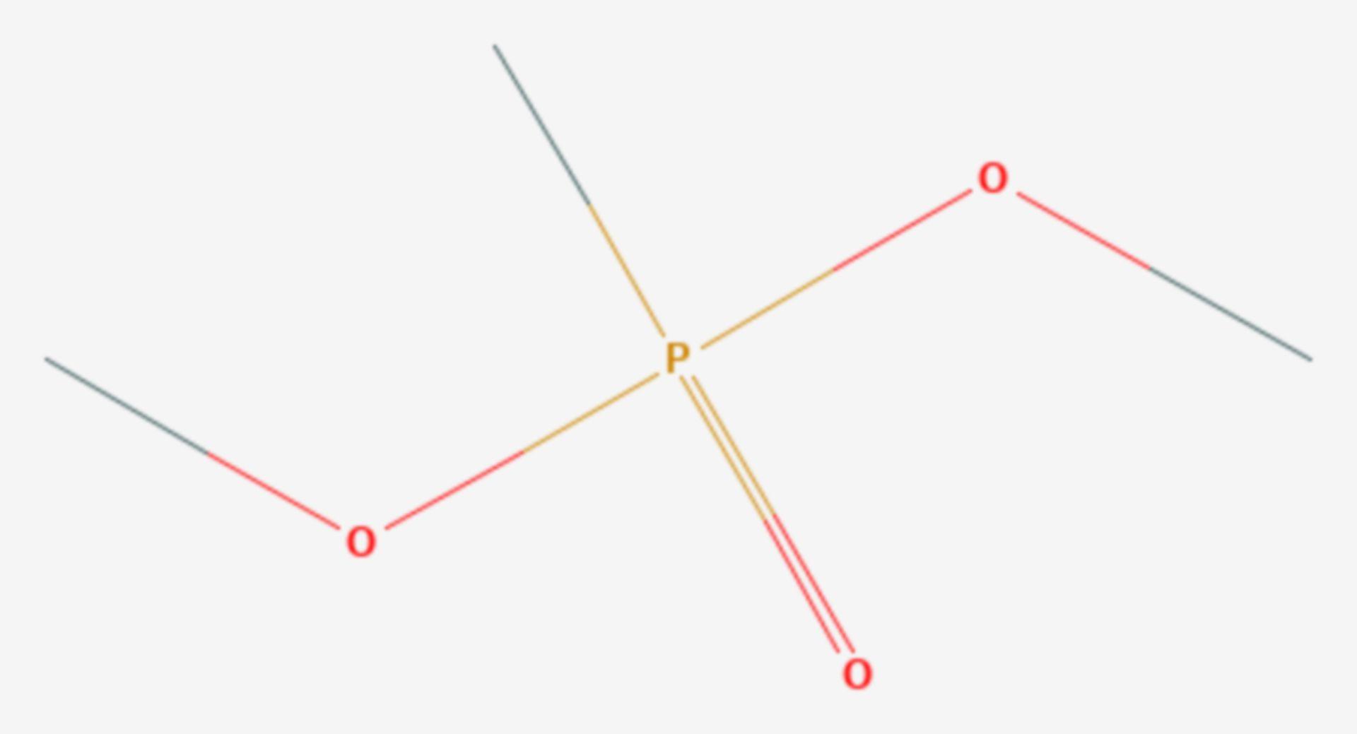 Dimethylmethylphosphonat (Strukturformel)