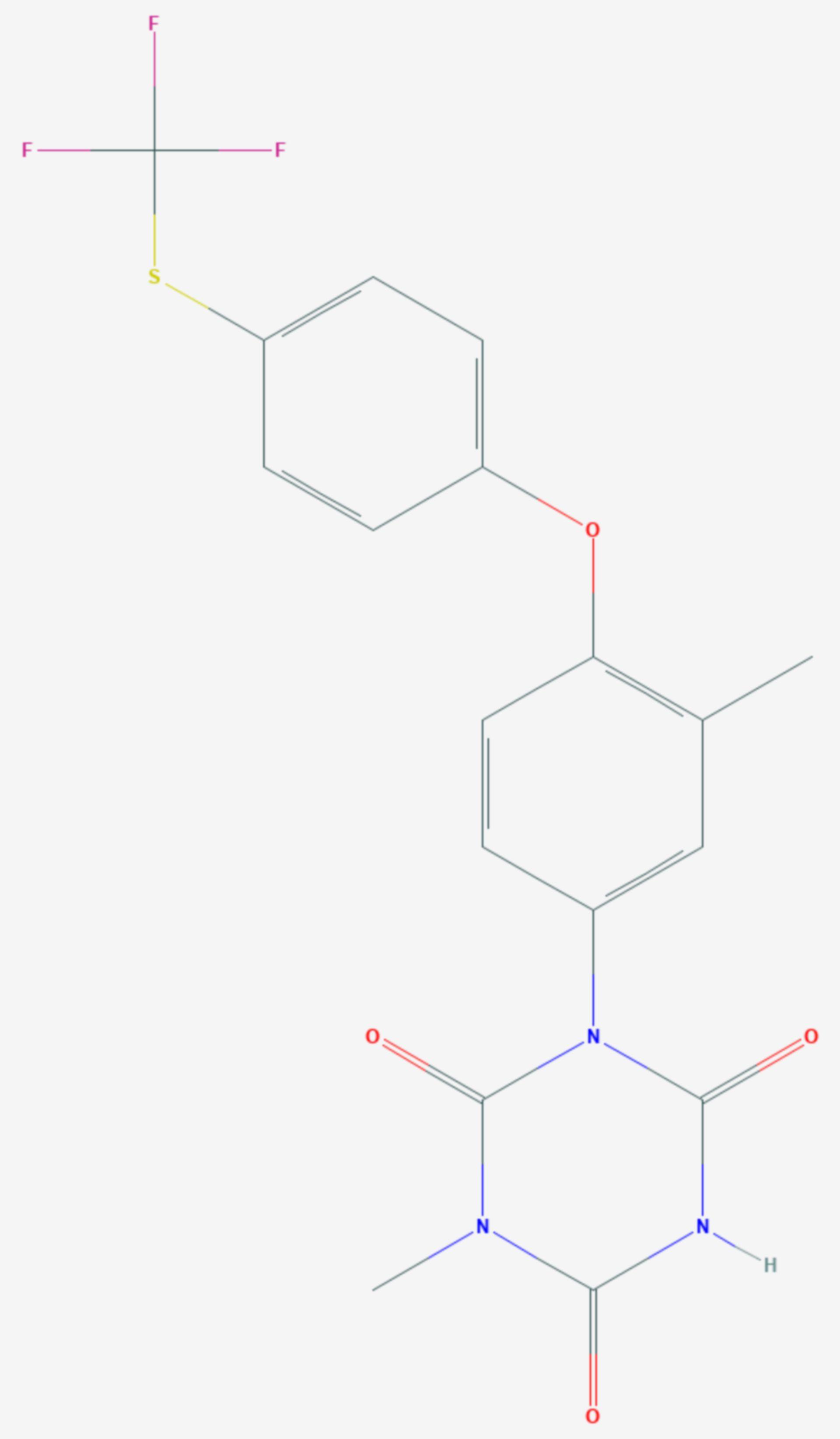 Toltrazuril (Strukturformel)