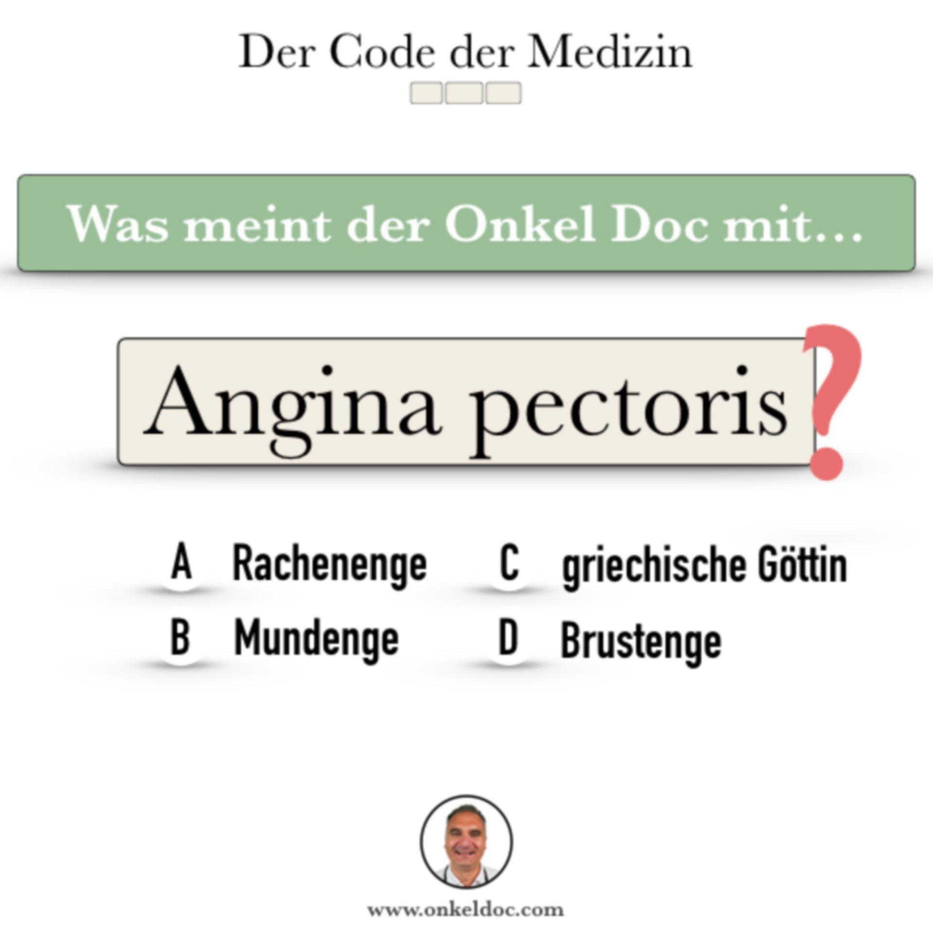 Frage zum Code der Angina pectoris