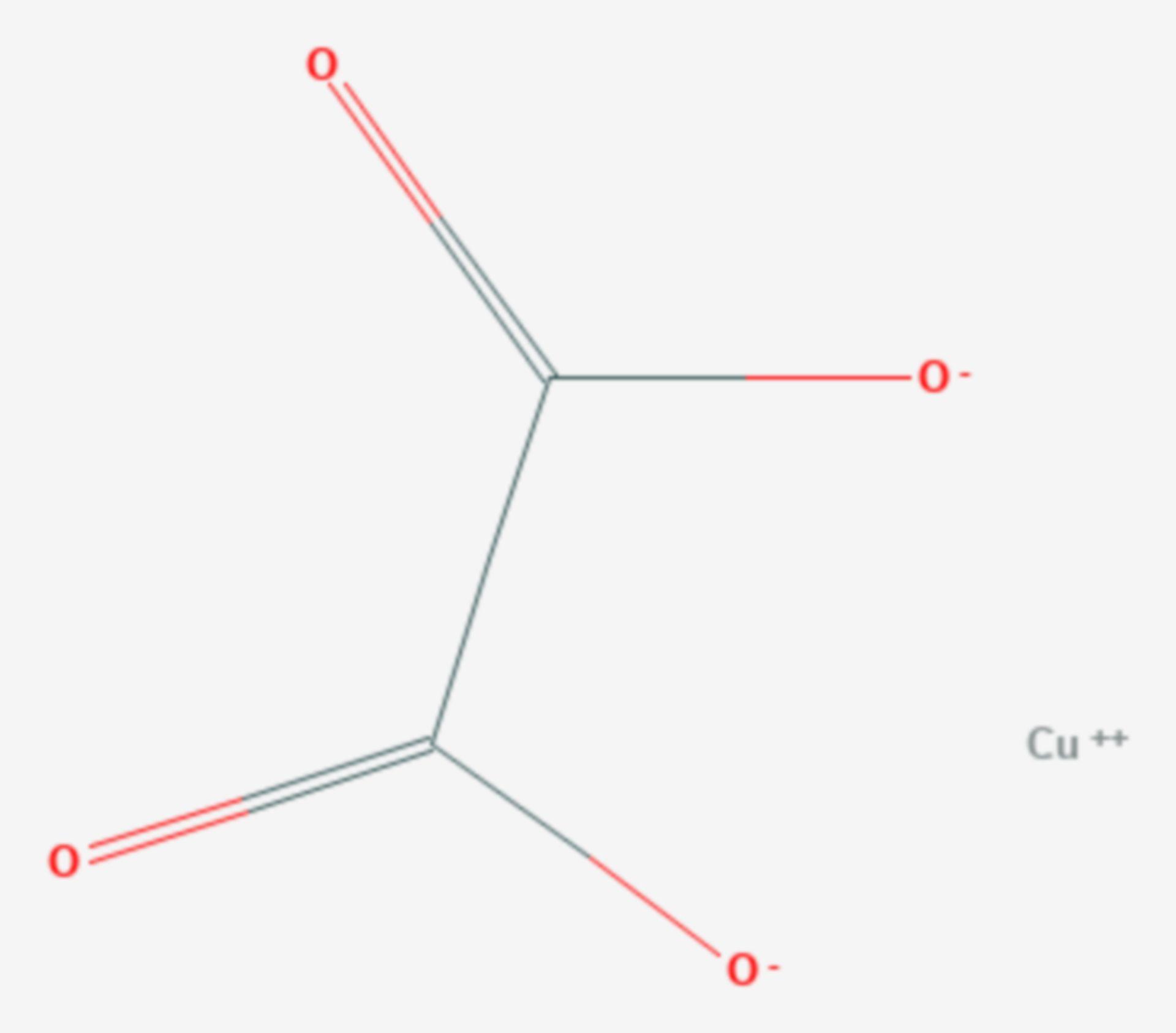Kupfer(II)-oxalat (Strukturformel)