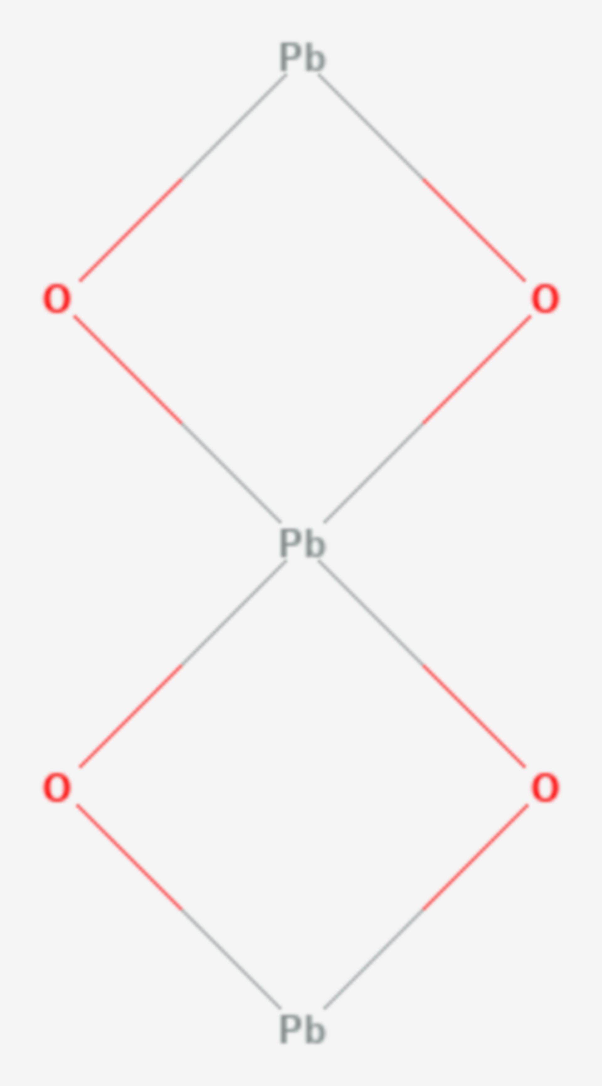 Blei(II,IV)-oxid (Strukturformel)