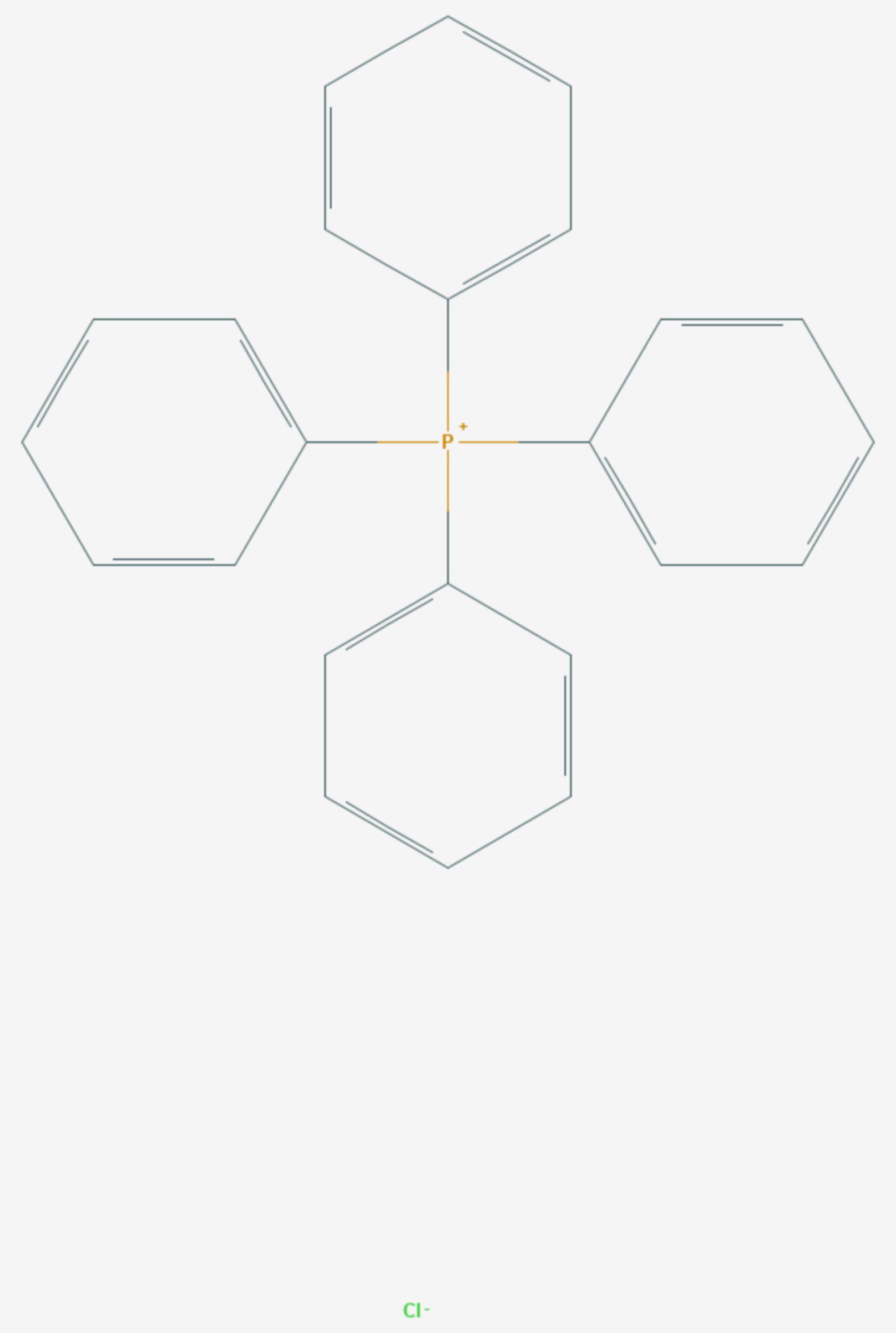 Tetraphenylphosphoniumchlorid (Strukturformel)