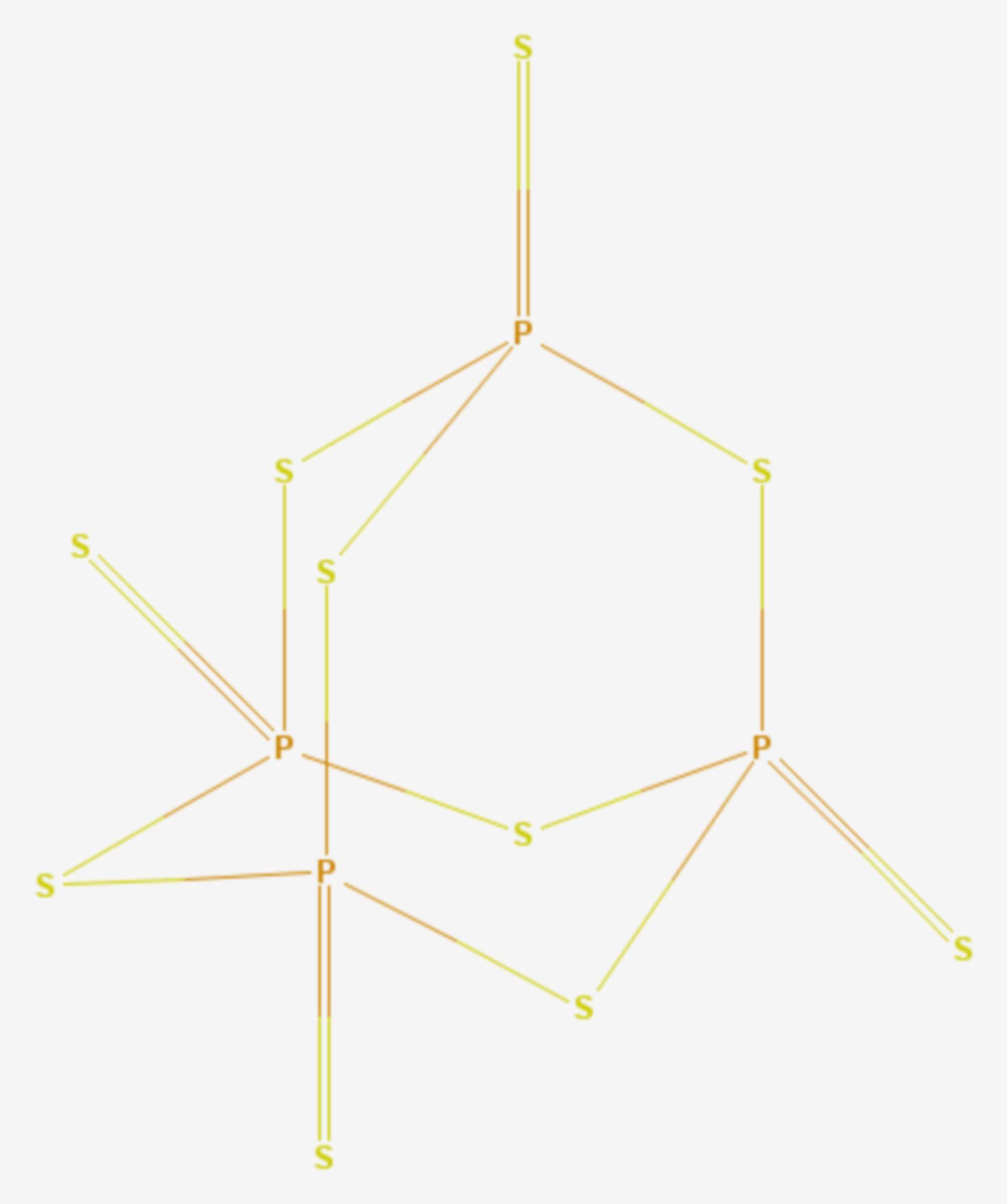 Phosphor(V)-sulfid (Strukturformel)