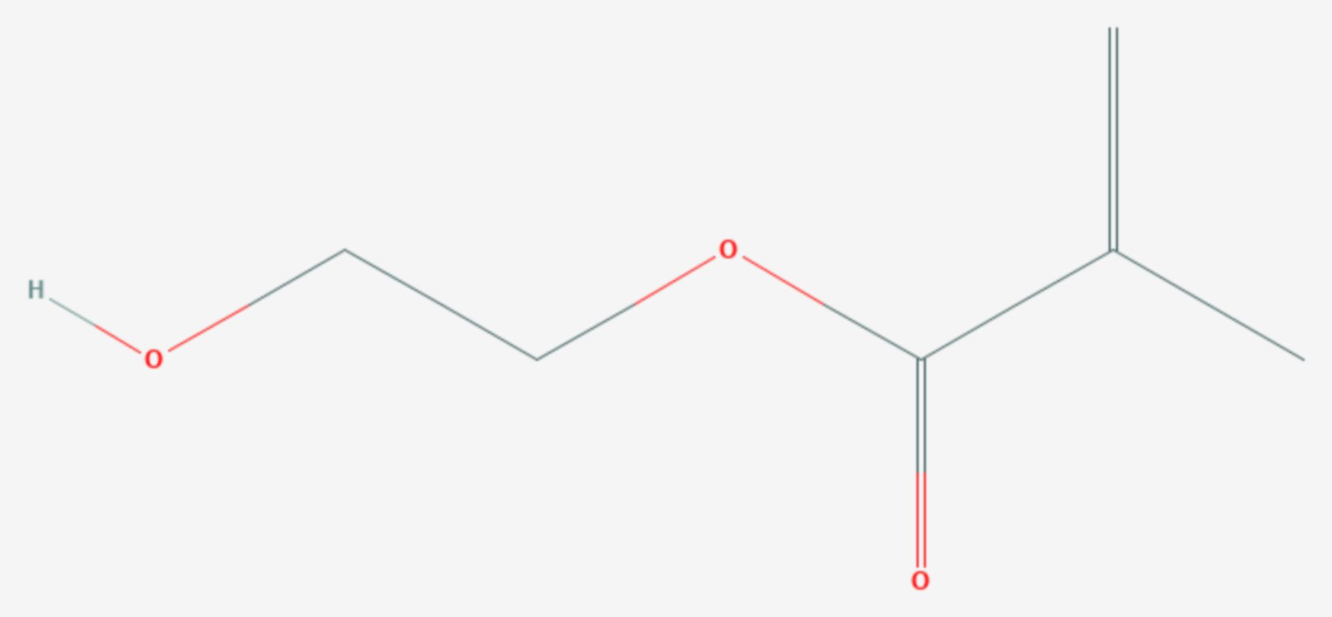Hydroxyethylmethacrylat (Strukturformel)