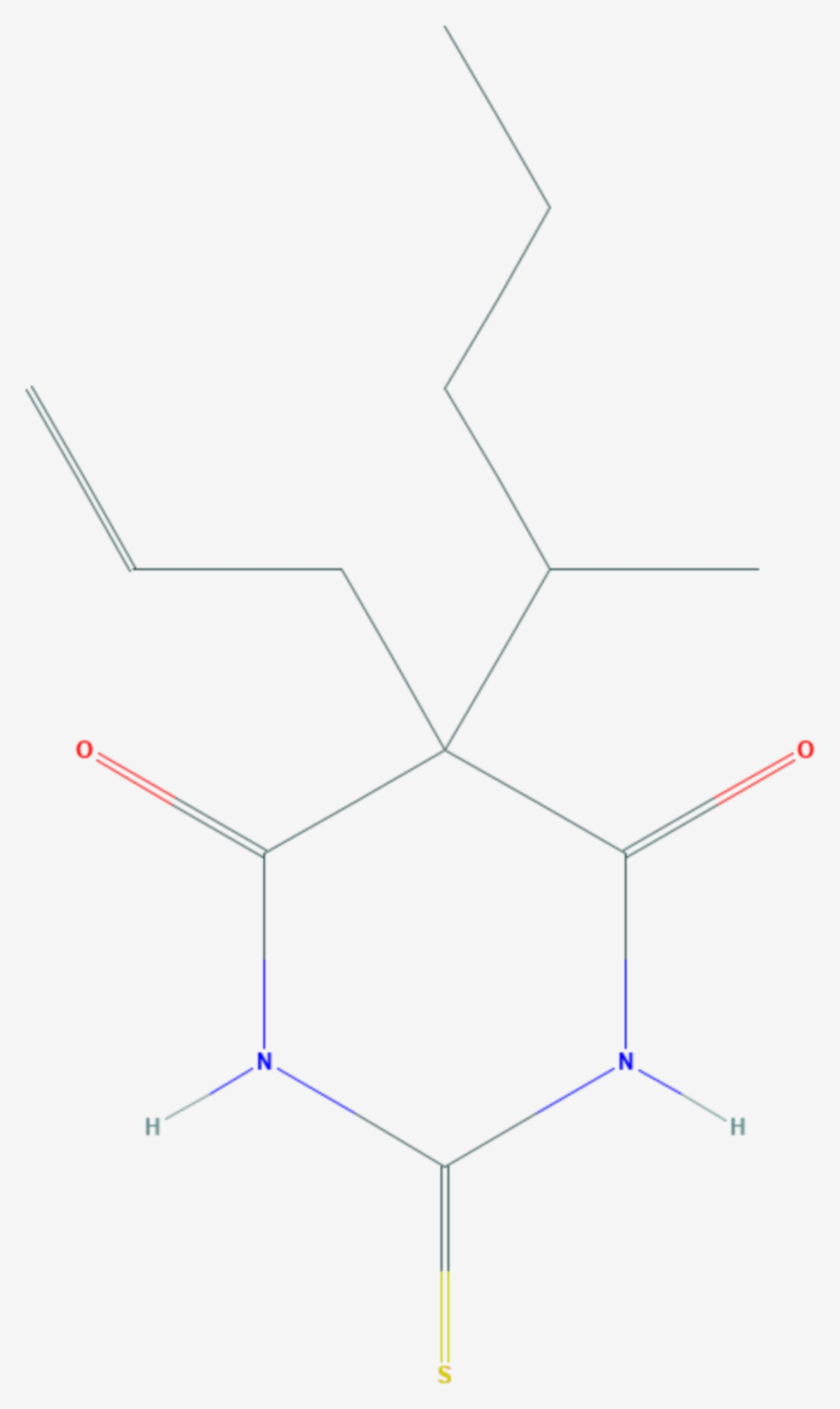 Thiamylal (Strukturformel)