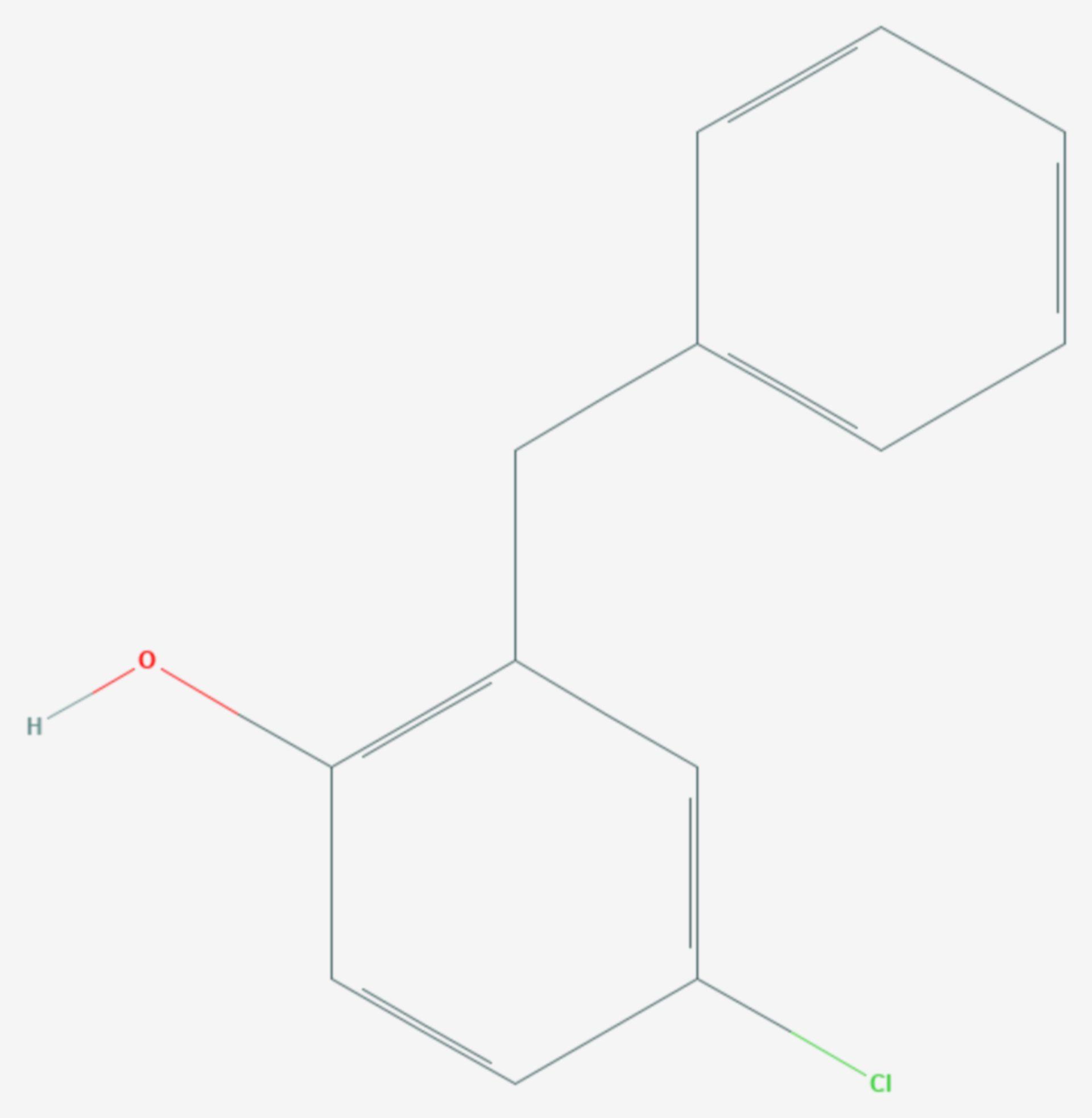 2-Benzyl-4-chlorphenol (Strukturformel)