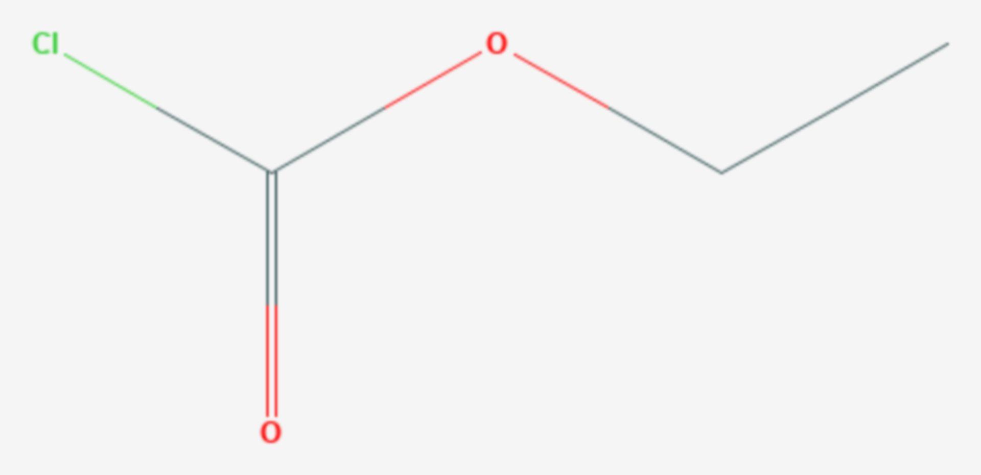 Chlorameisensäureethylester (Strukturformel)