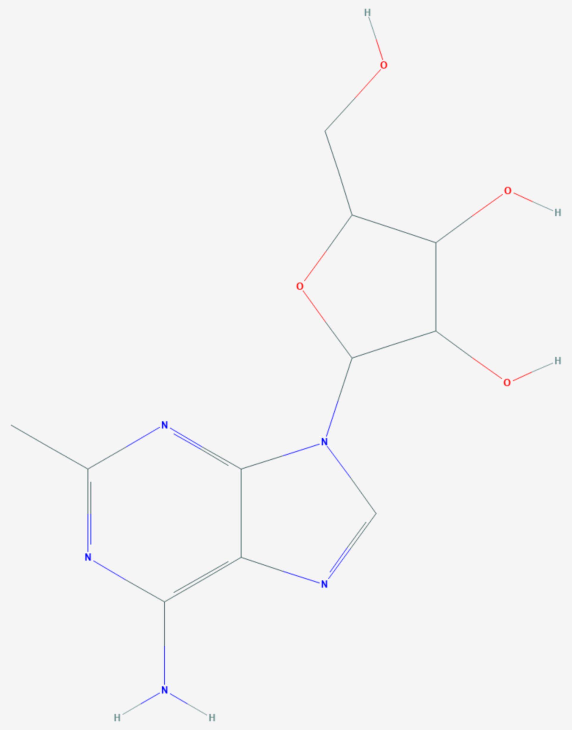 2-Methyladenosin (Strukturformel)